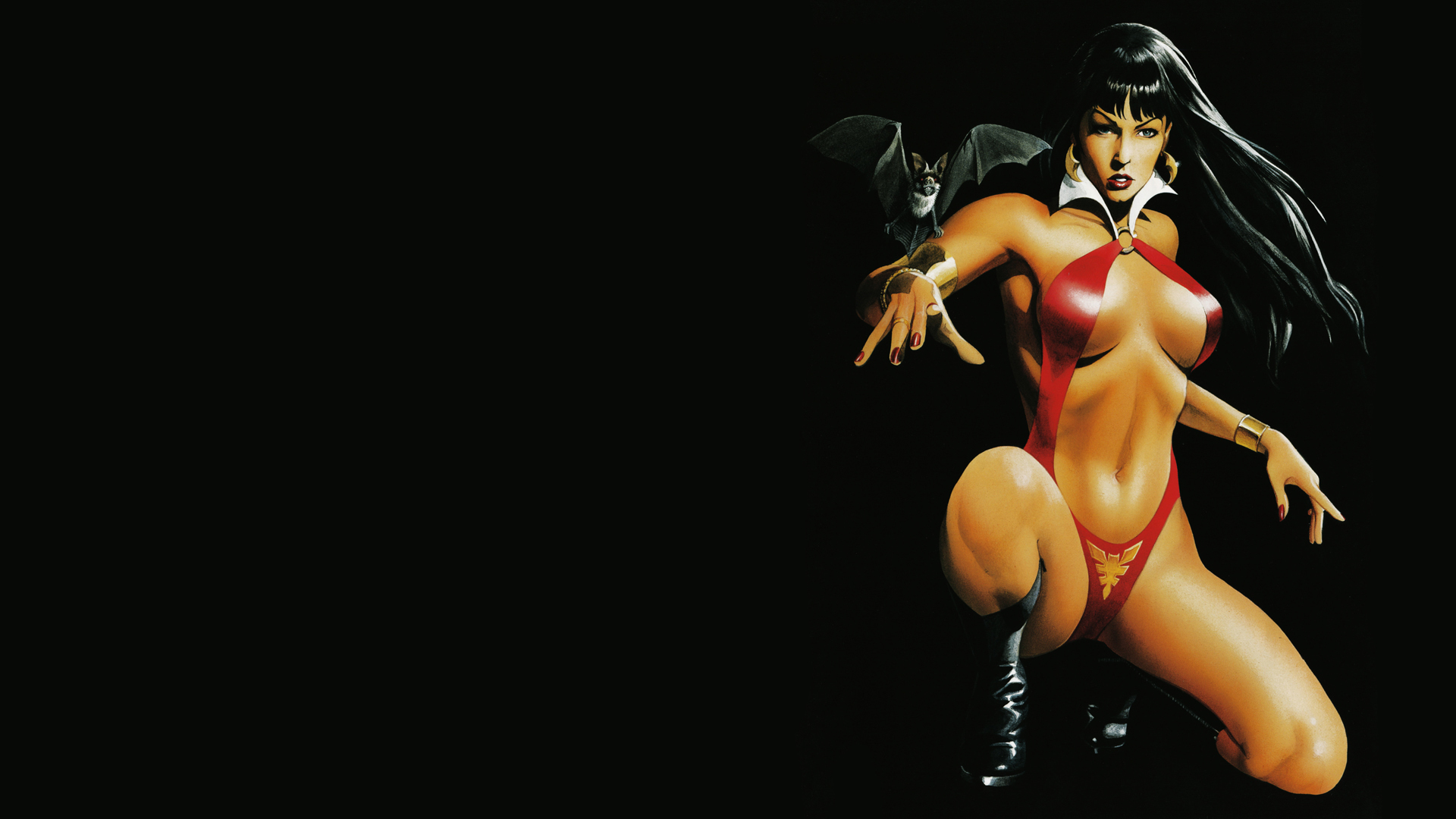 boobs woman Vampirella Vampires HD Wallpaper