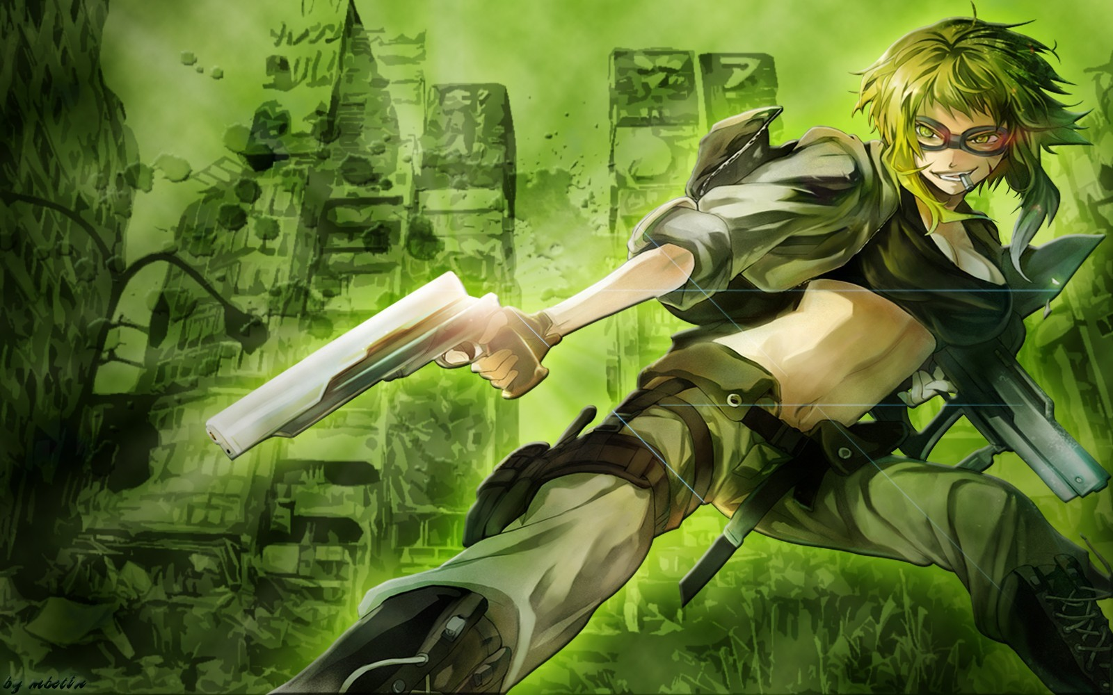 boots Green pants Guns HD Wallpaper