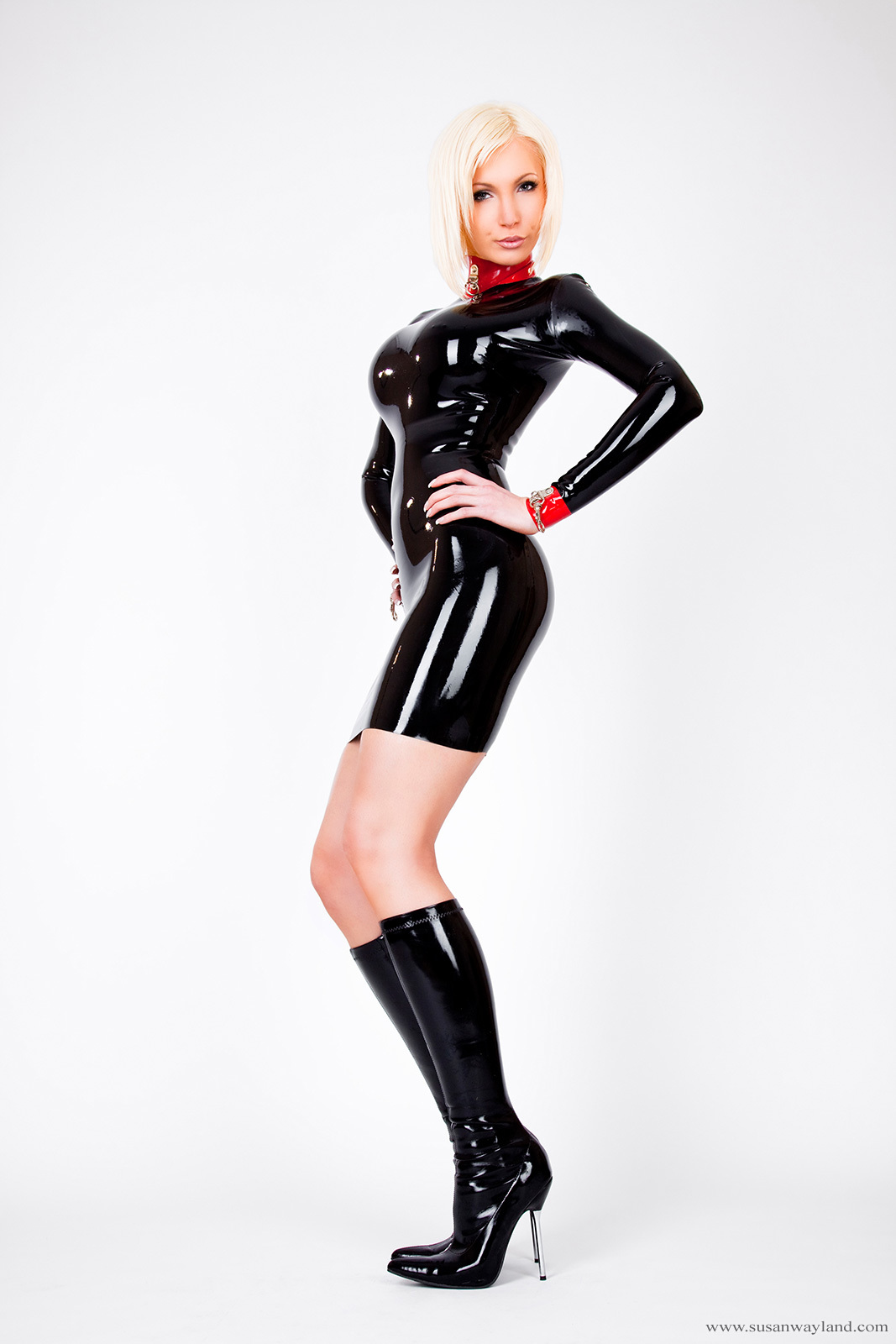 boots latex Susan Wayland HD Wallpaper