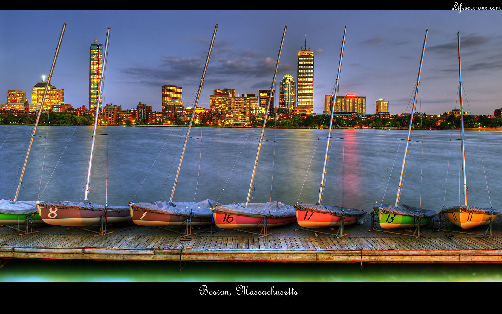 Boston Sailboats City HD Wallpaper