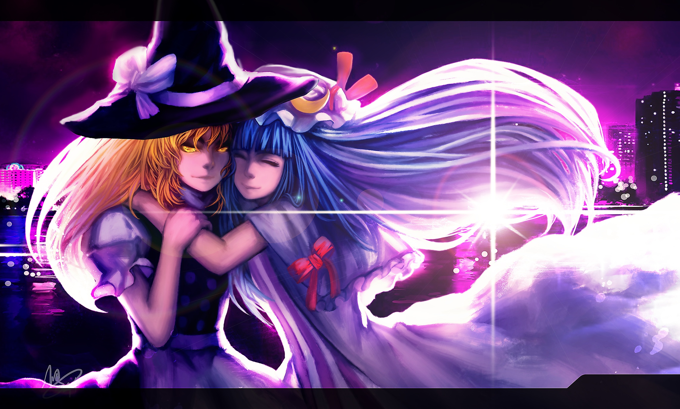bows light blondes witch HD Wallpaper