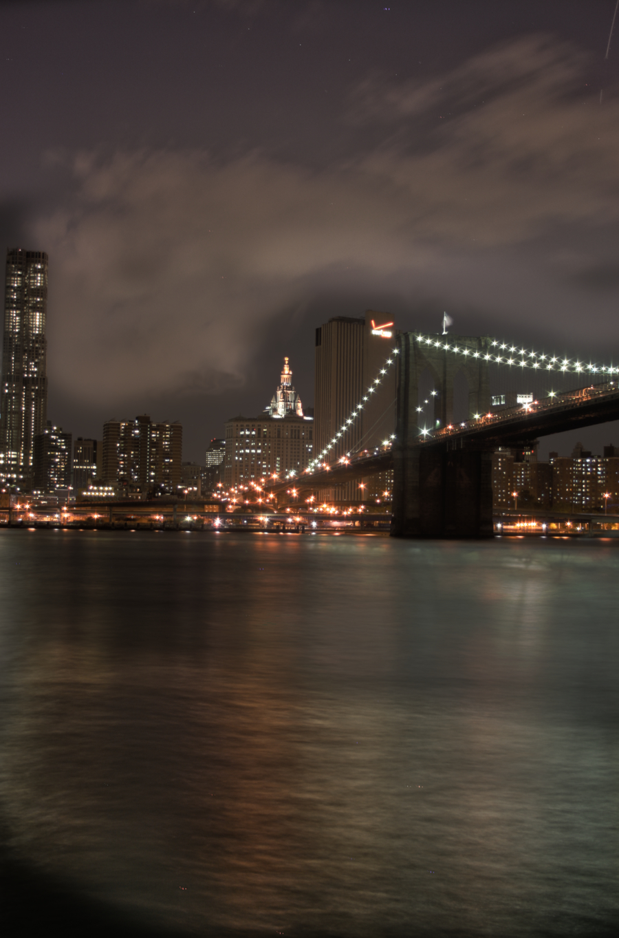 Bridges buildings New York HD Wallpaper