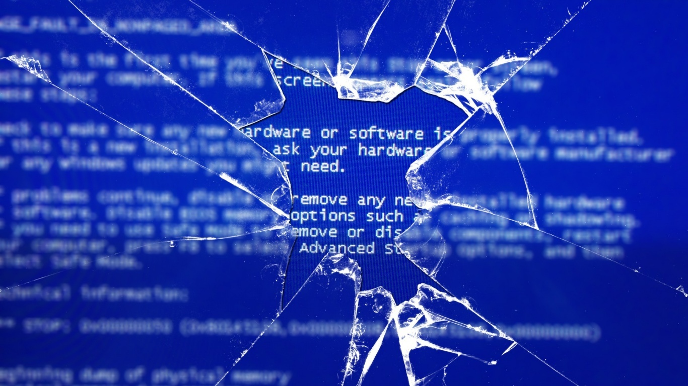 broken screen Blue Screen HD Wallpaper