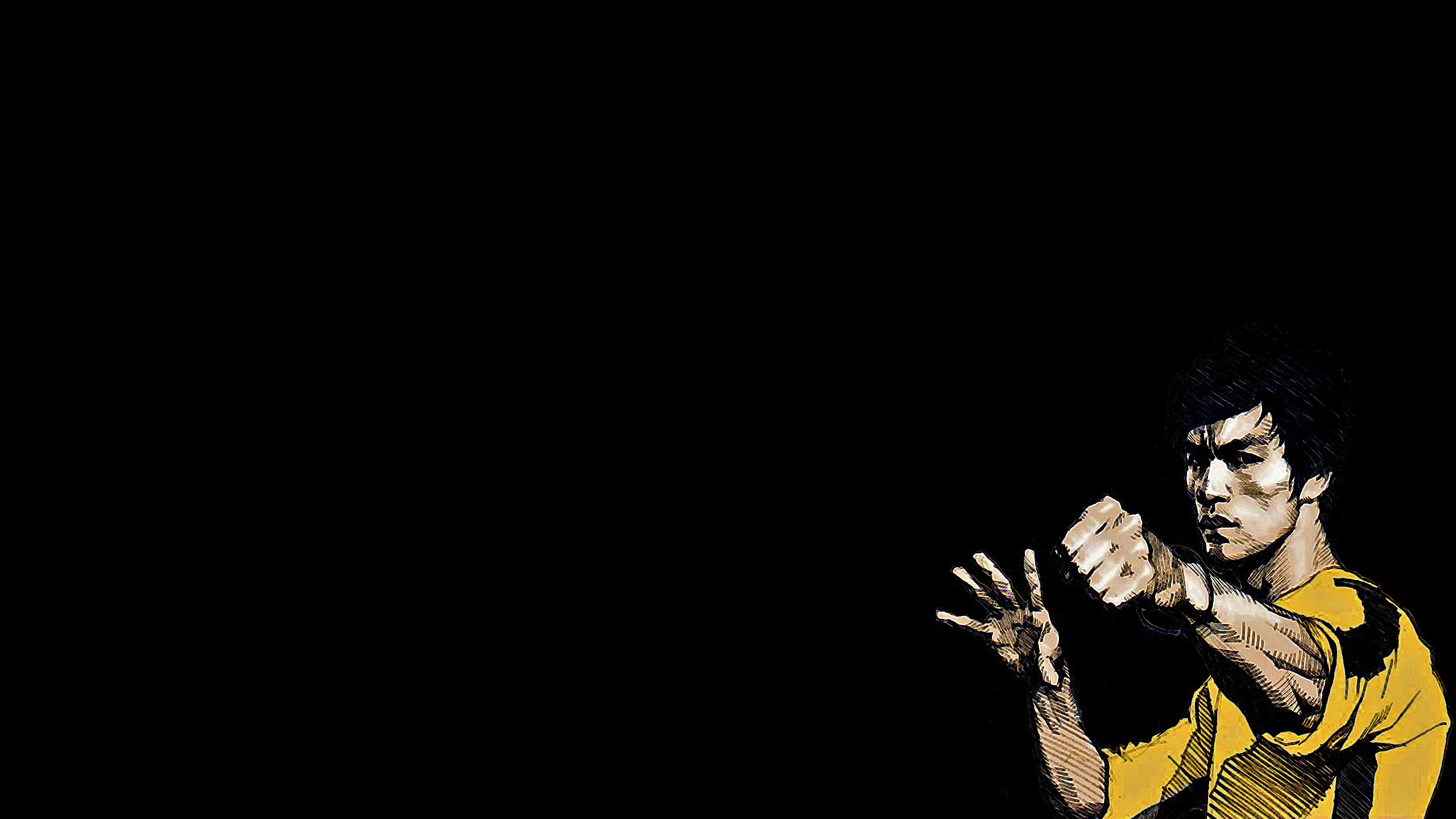 Bruce lee black background HD Wallpaper