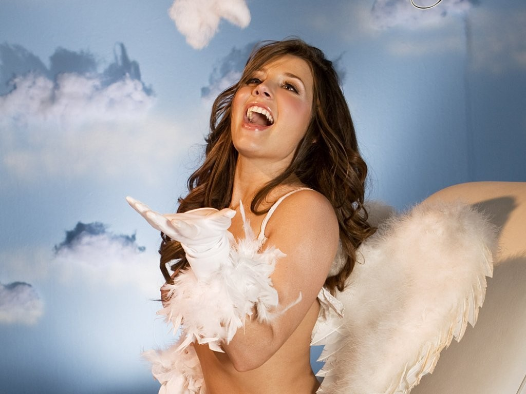 brunettes angels Erica Campbell HD Wallpaper