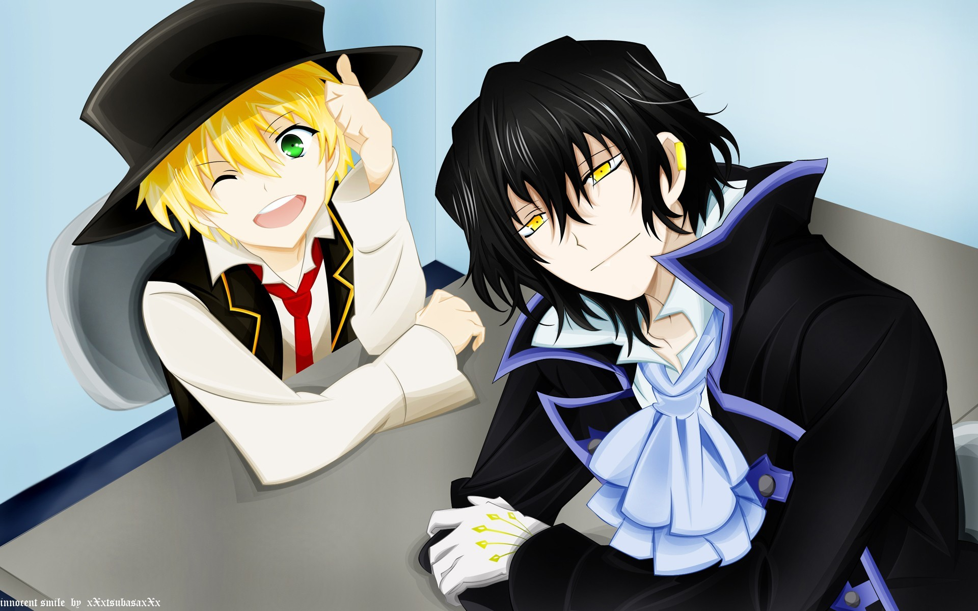 brunettes blondes pandora Hearts HD Wallpaper