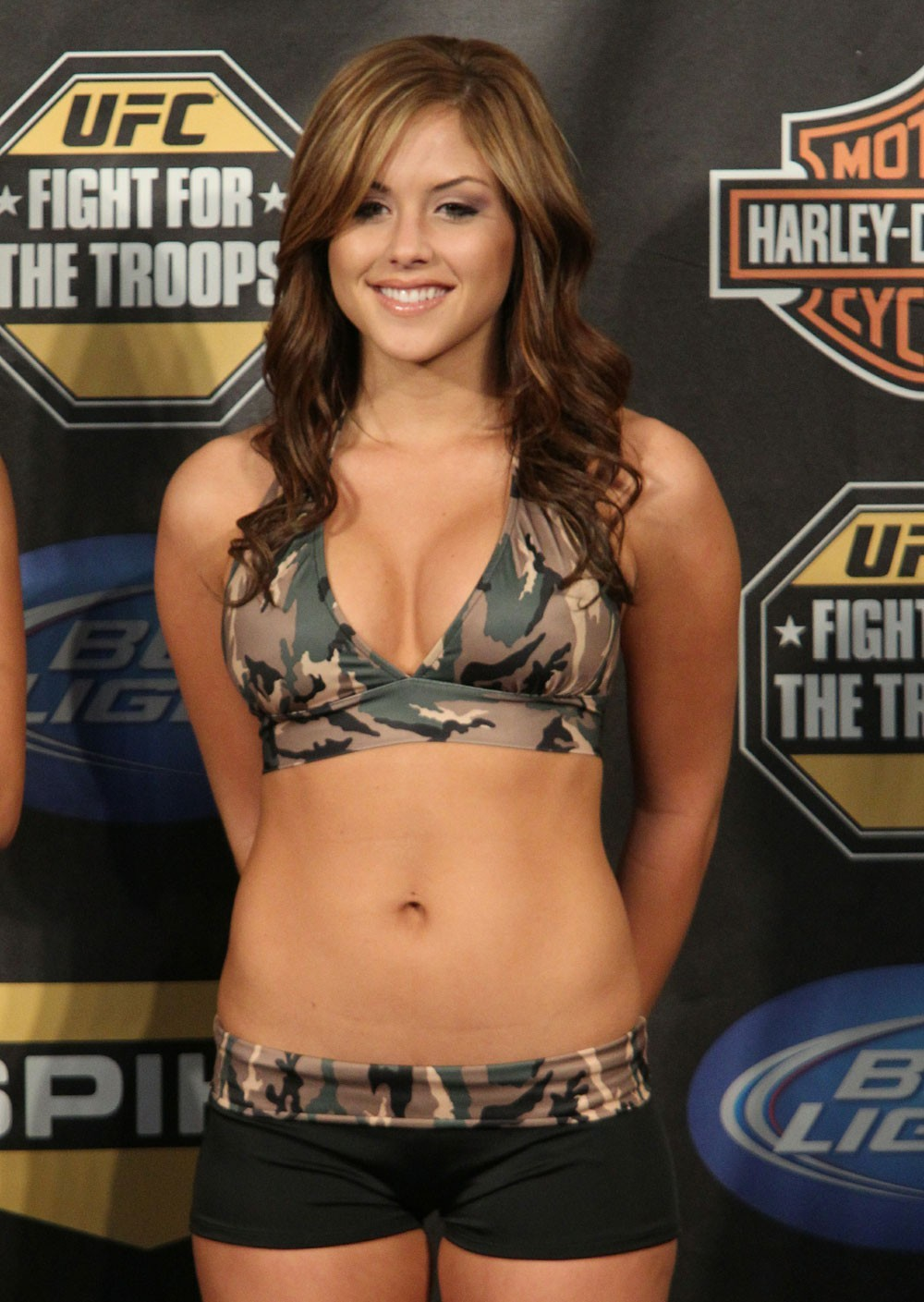 brunettes boobs cleavage ufc HD Wallpaper