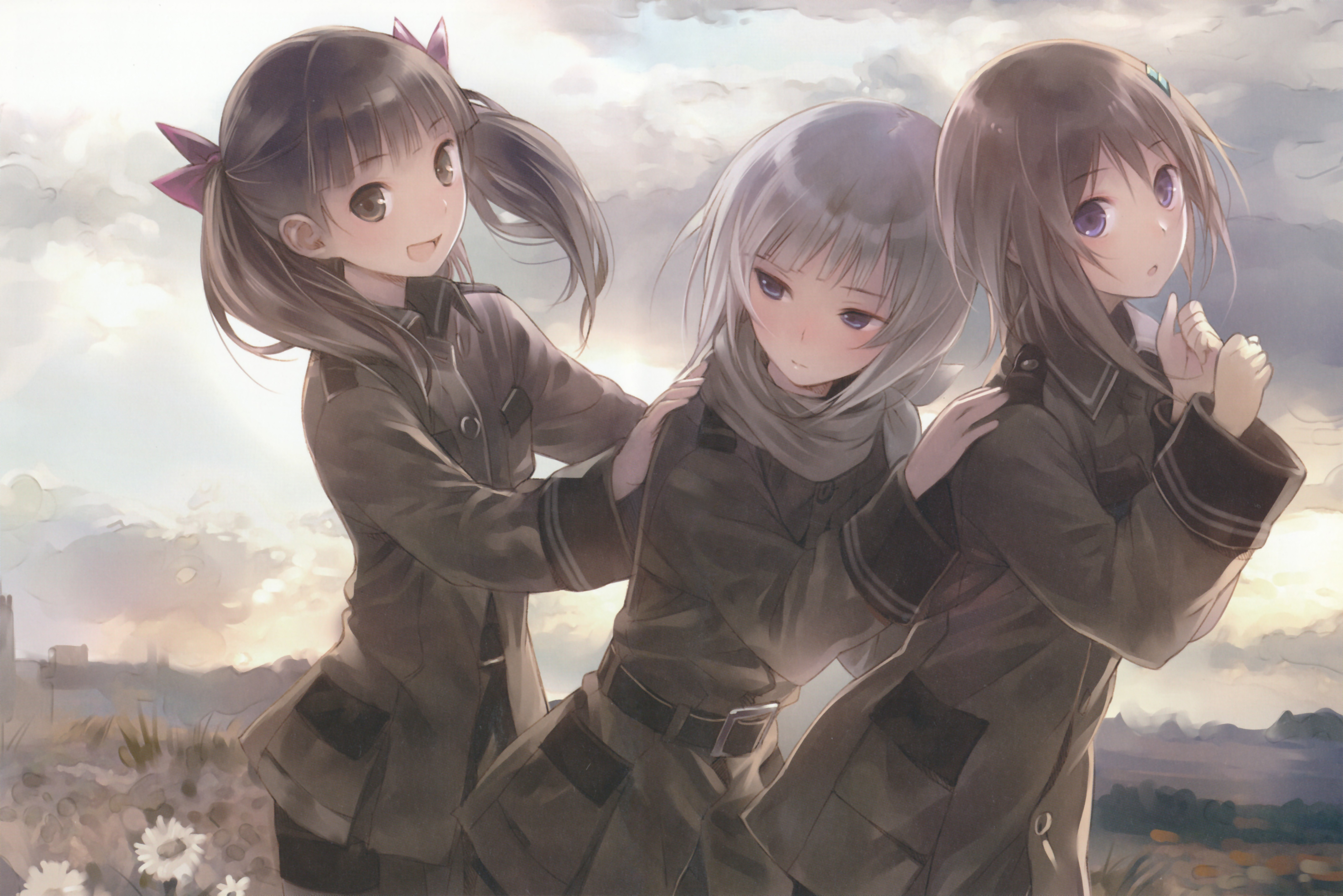 brunettes clouds uniforms Army HD Wallpaper