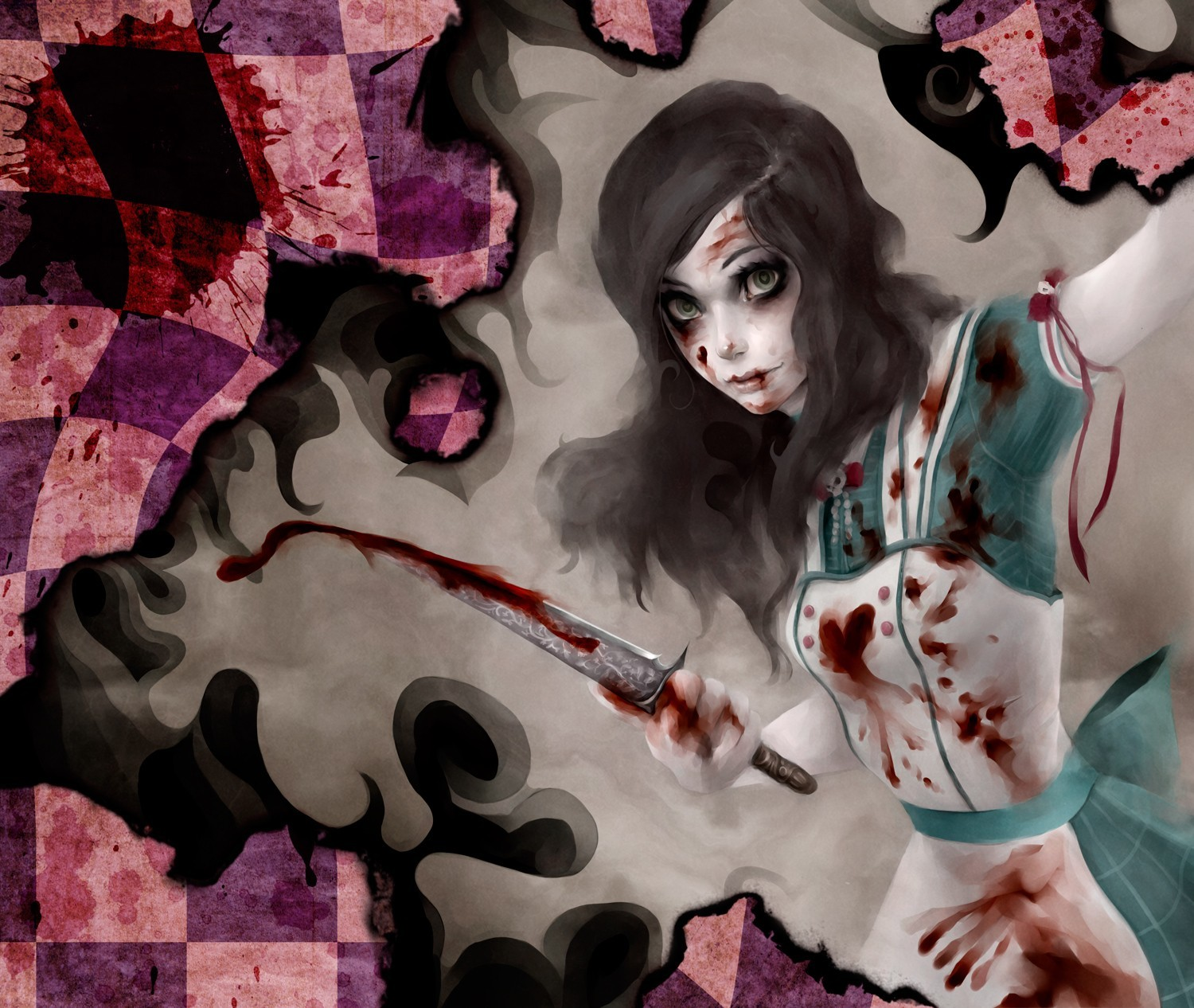 brunettes creepy video games HD Wallpaper