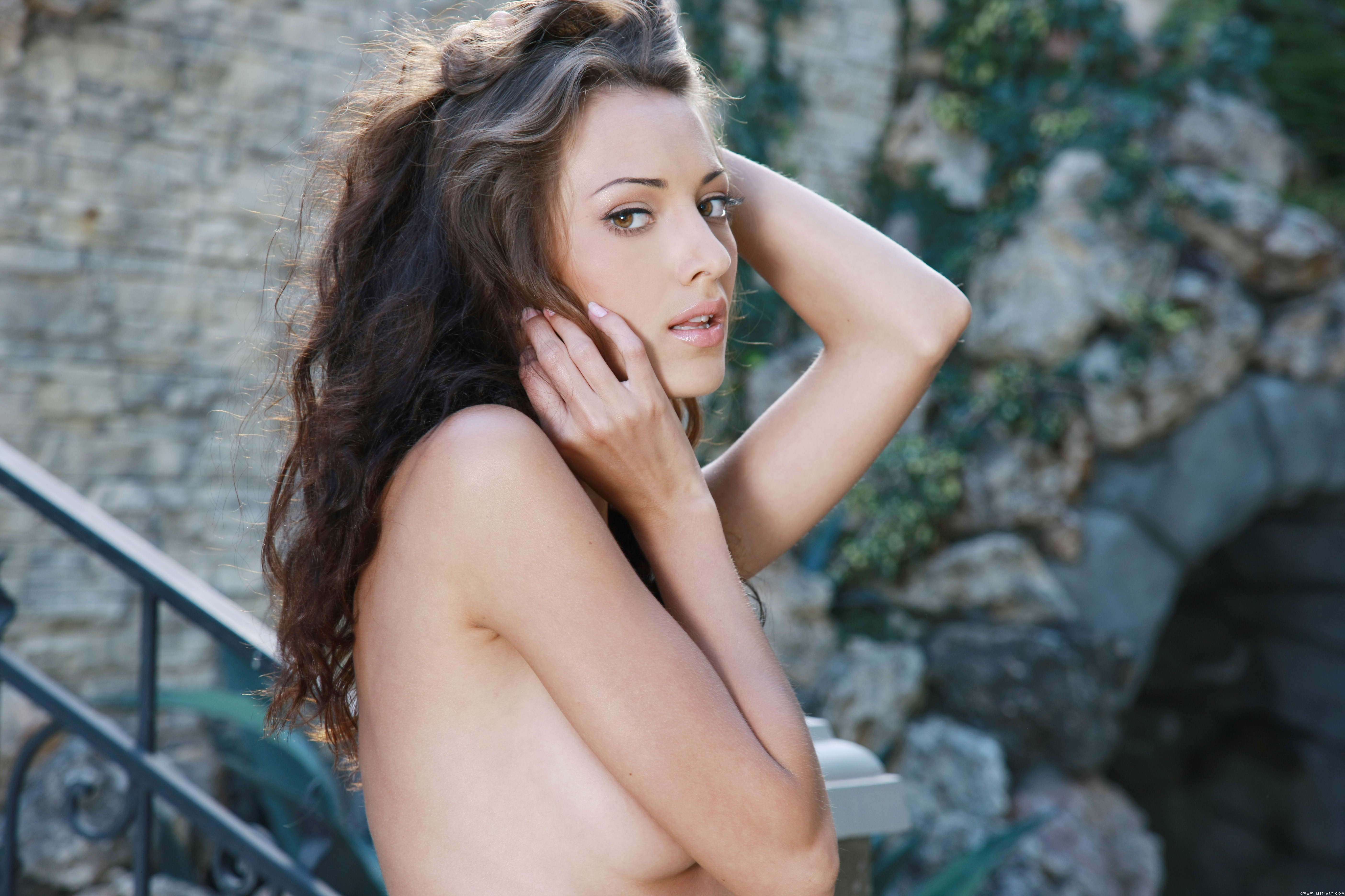 brunettes nipples Women Anna HD Wallpaper