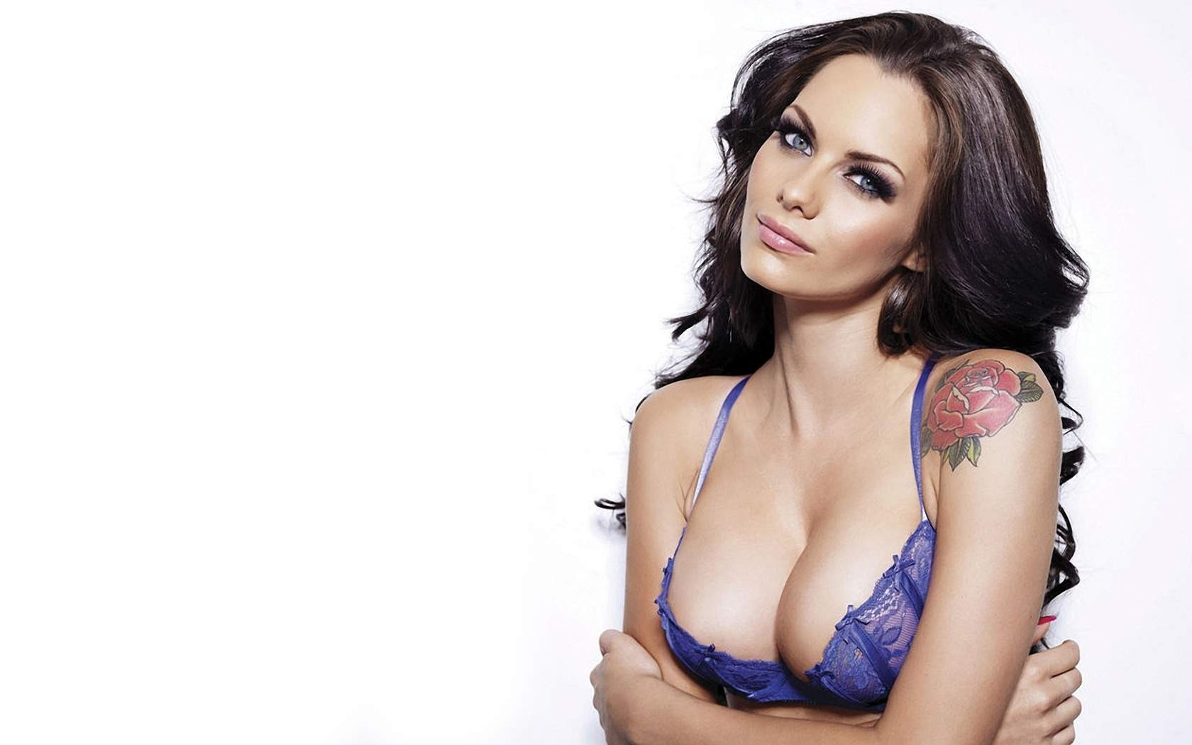 brunettes tattoos woman bra HD Wallpaper