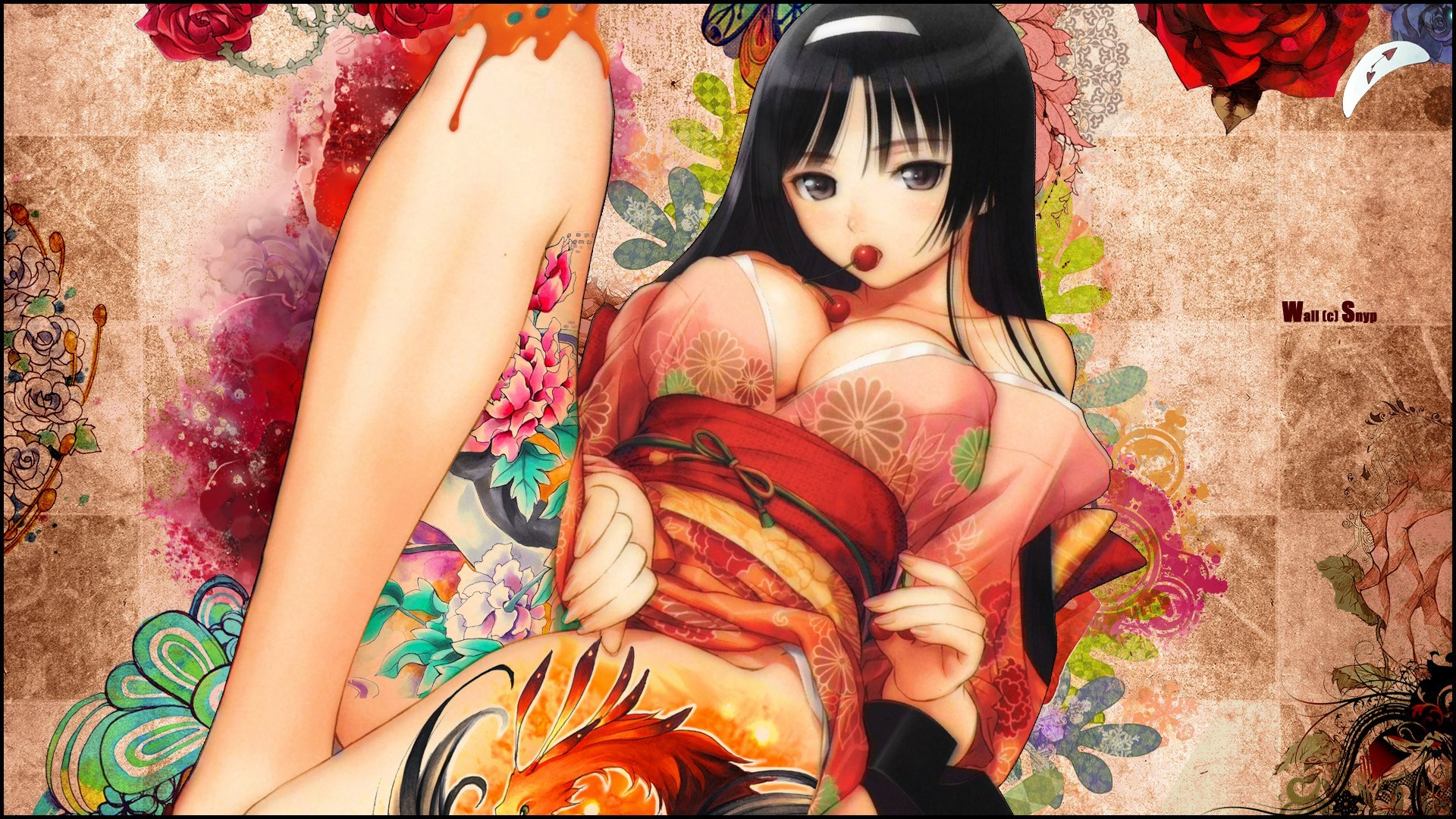 brunettes tony taka Flowers HD Wallpaper