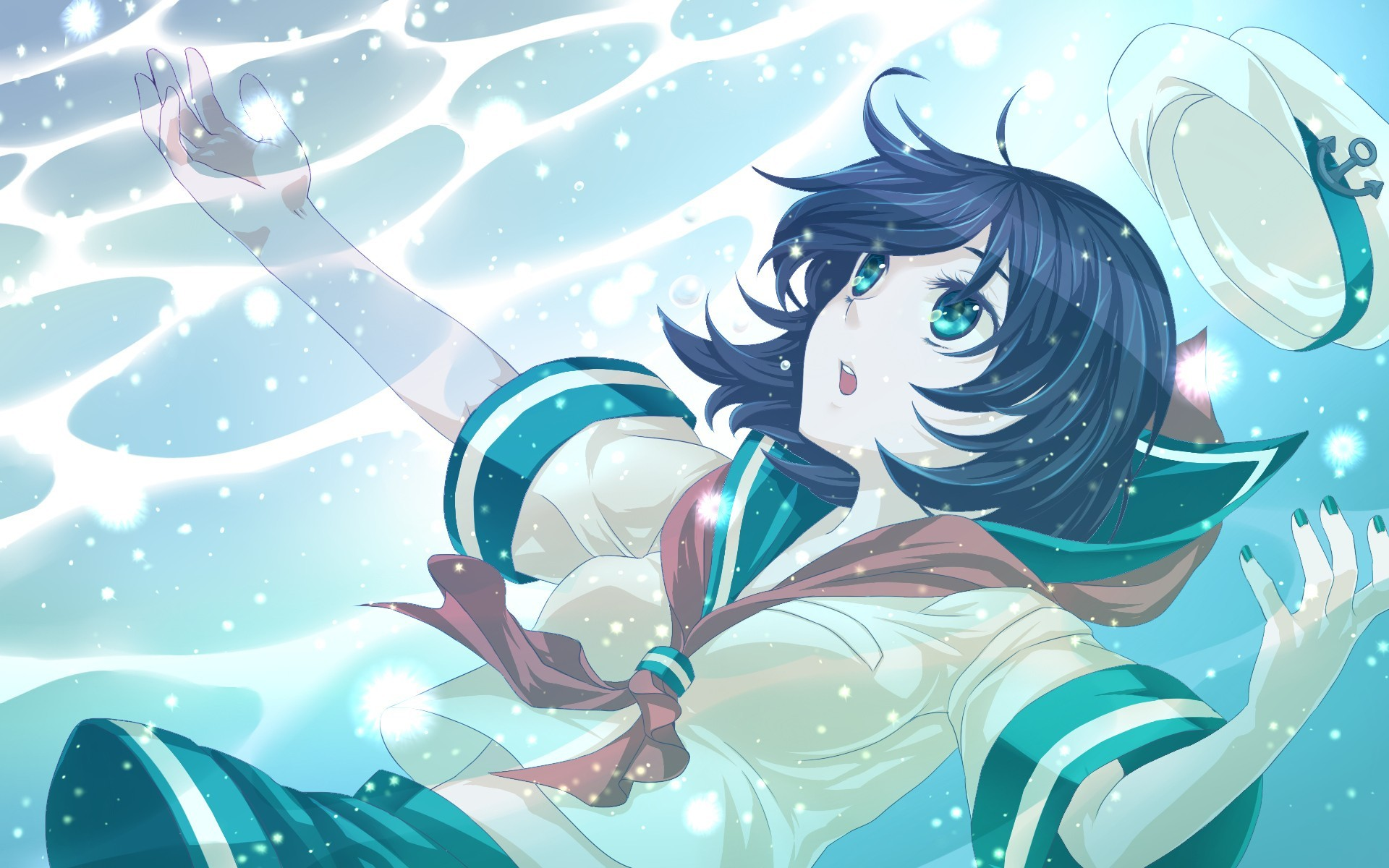 brunettes touhou blue eyes HD Wallpaper