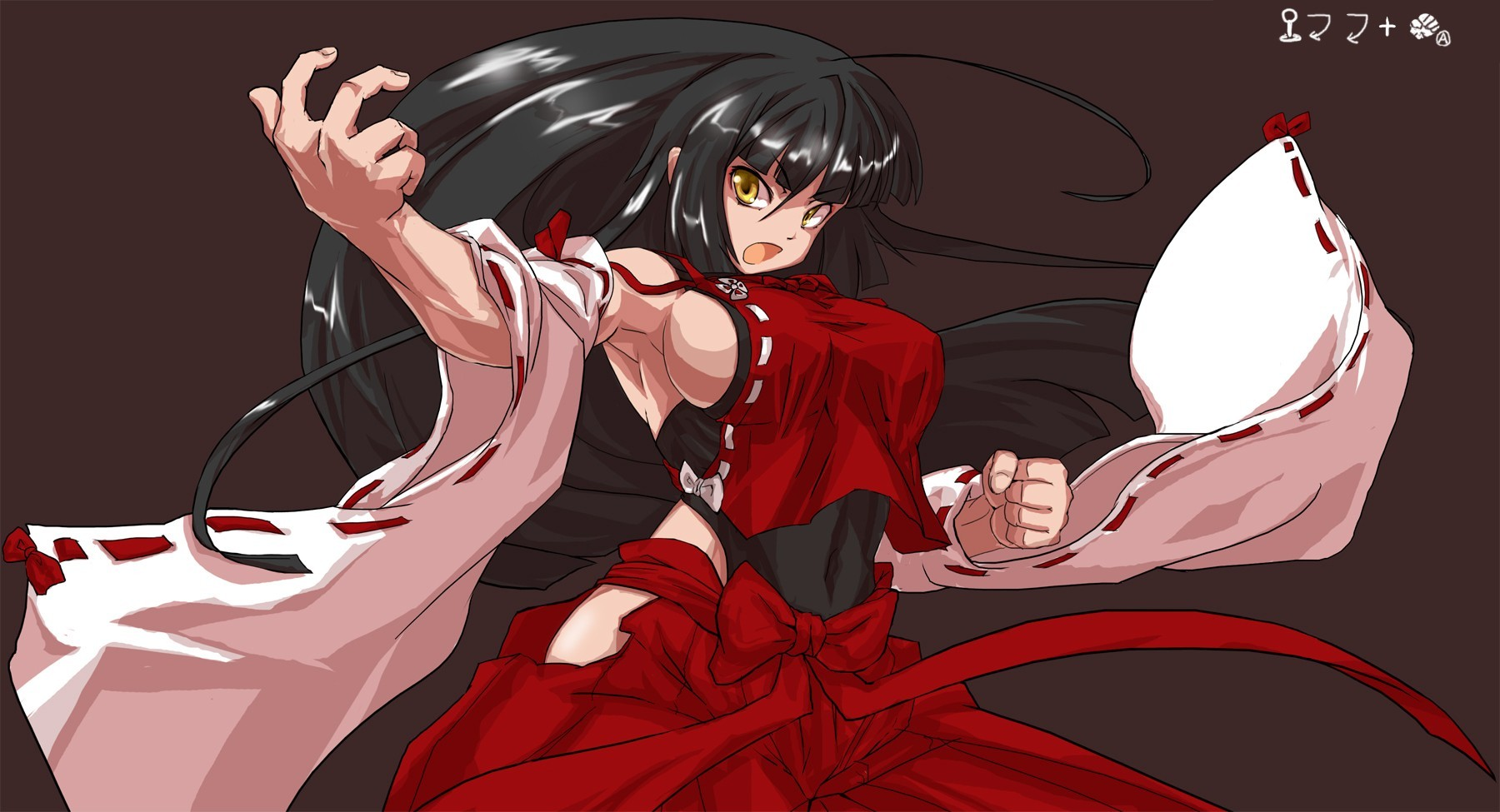 brunettes touhou long hair