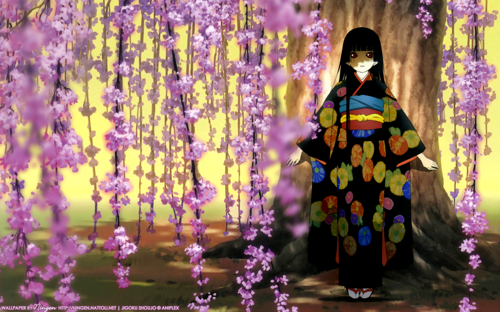 brunettes Trees dress jigoku