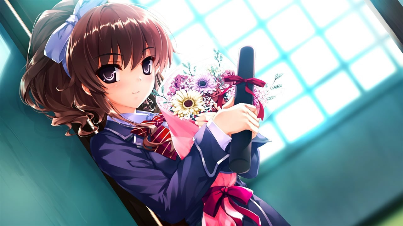 brunettes video games Flowers HD Wallpaper