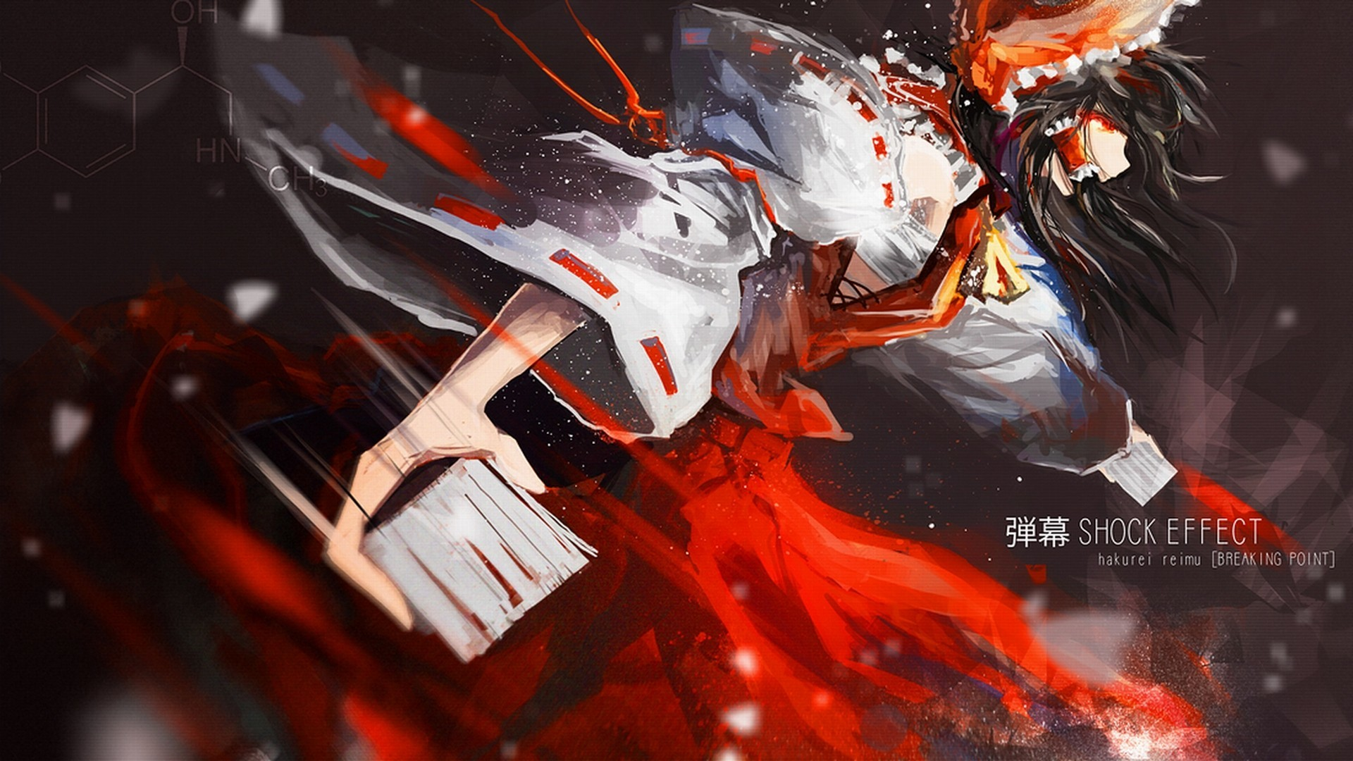 brunettes video games touhou HD Wallpaper