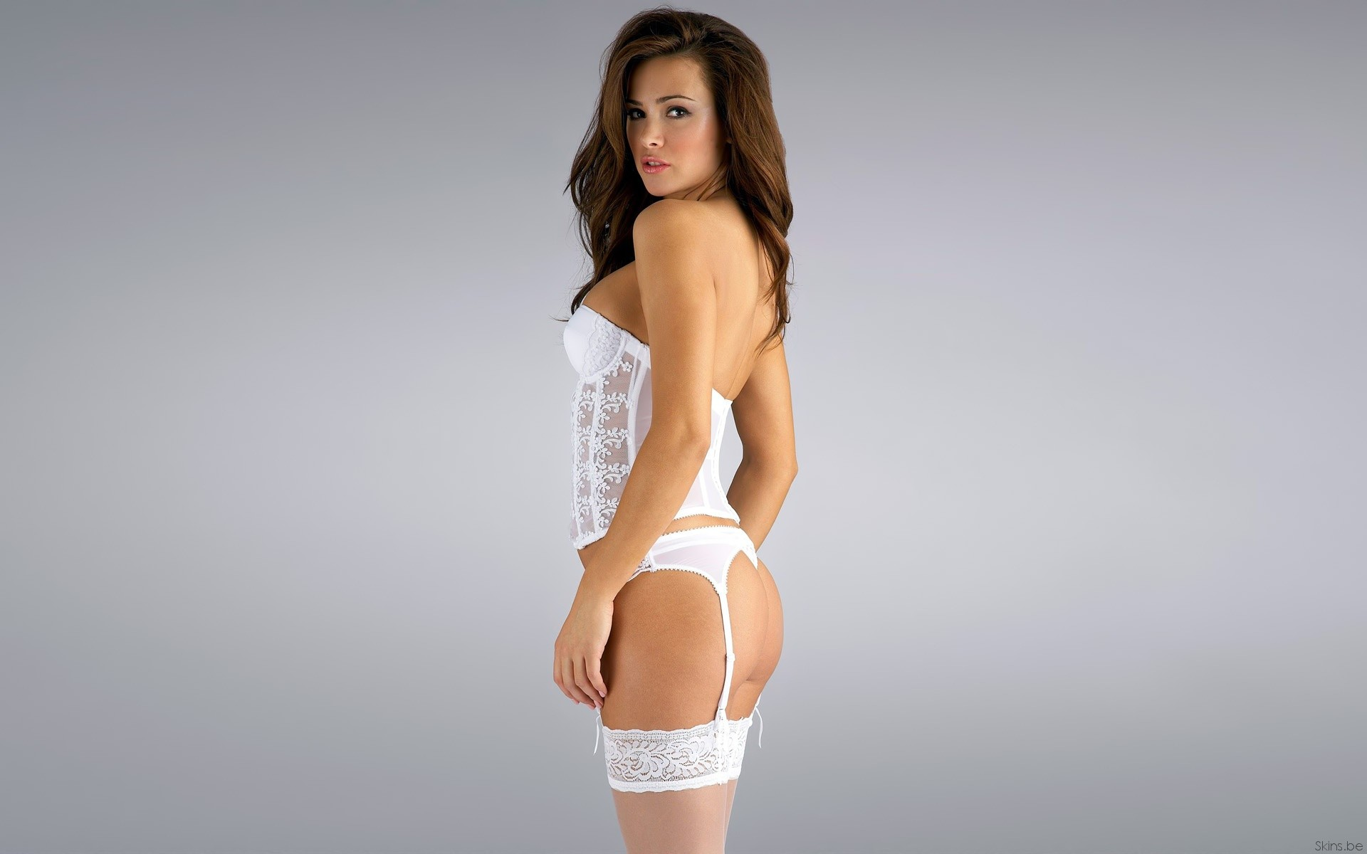 brunettes woman ass models HD Wallpaper