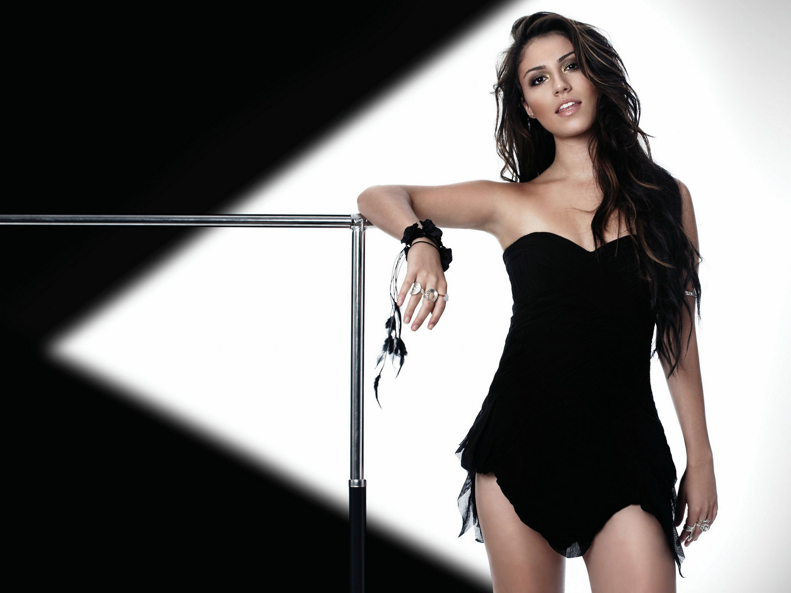 brunettes woman dress long HD Wallpaper