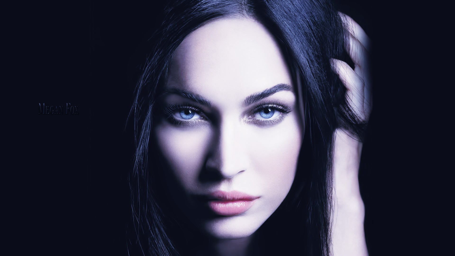 brunettes woman eyes dark HD Wallpaper