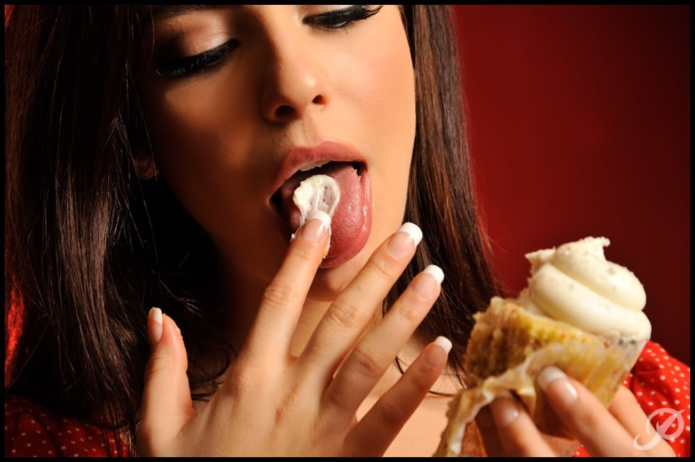 brunettes woman food ice HD Wallpaper