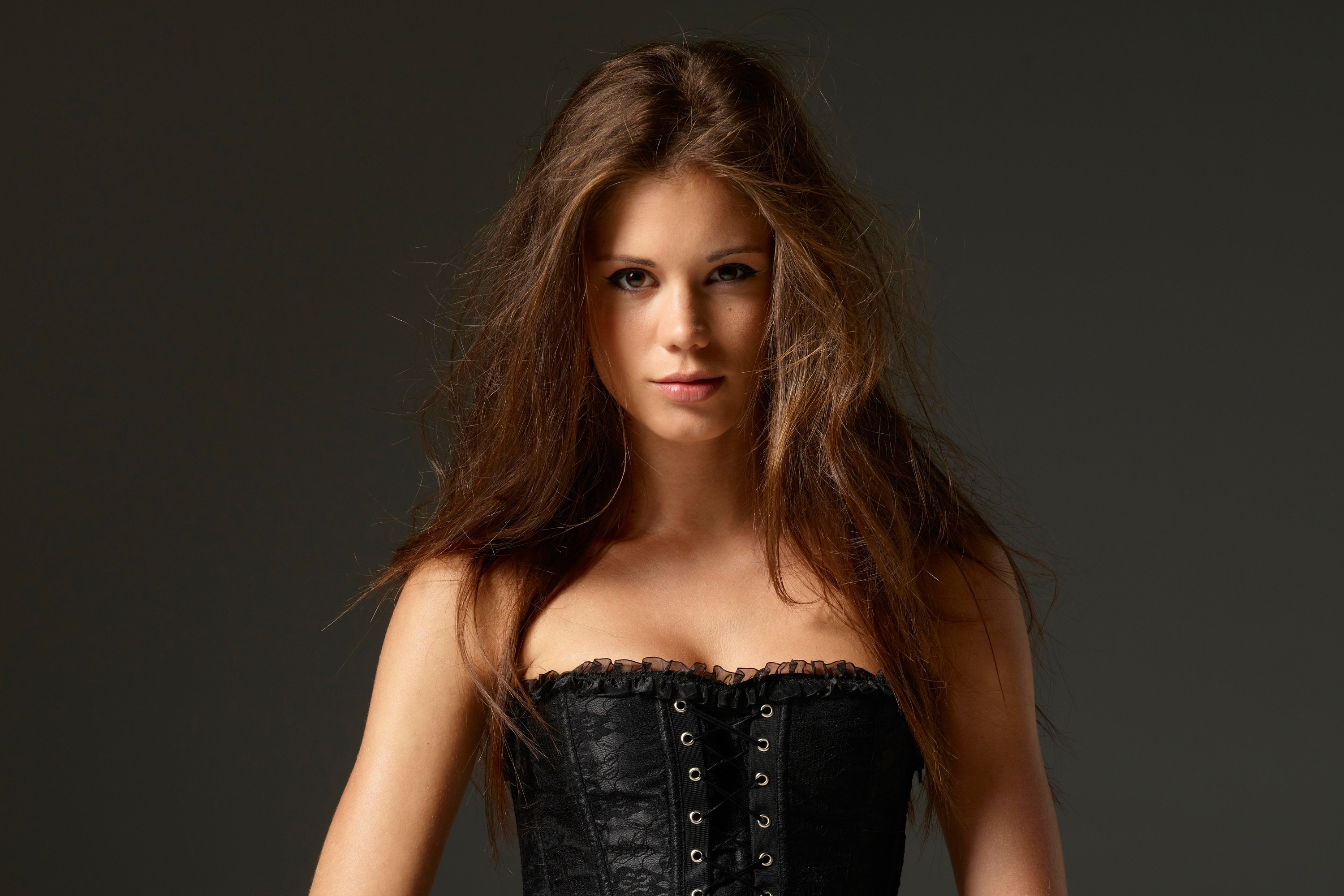 brunettes woman long hair HD Wallpaper