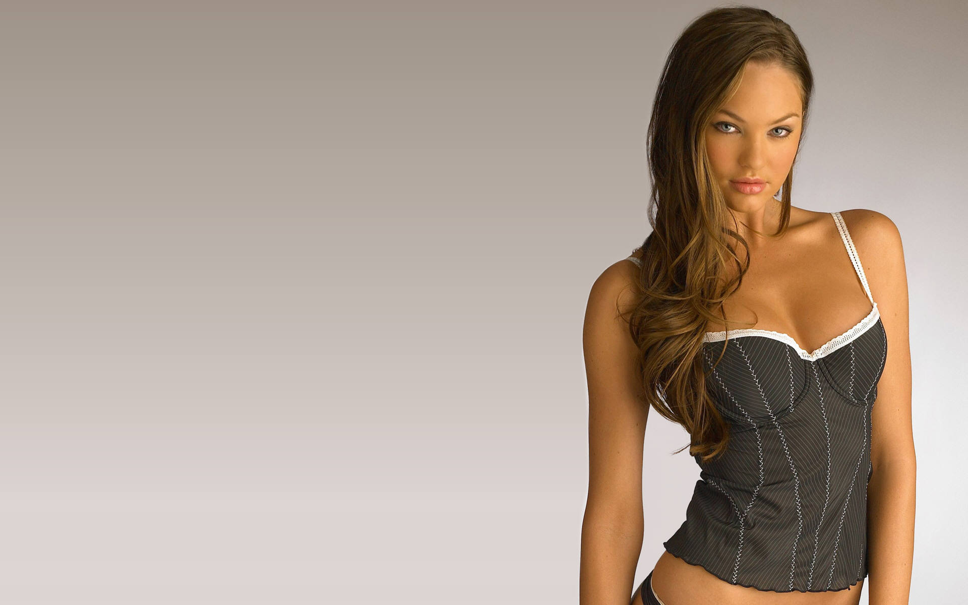 brunettes woman models candice HD Wallpaper