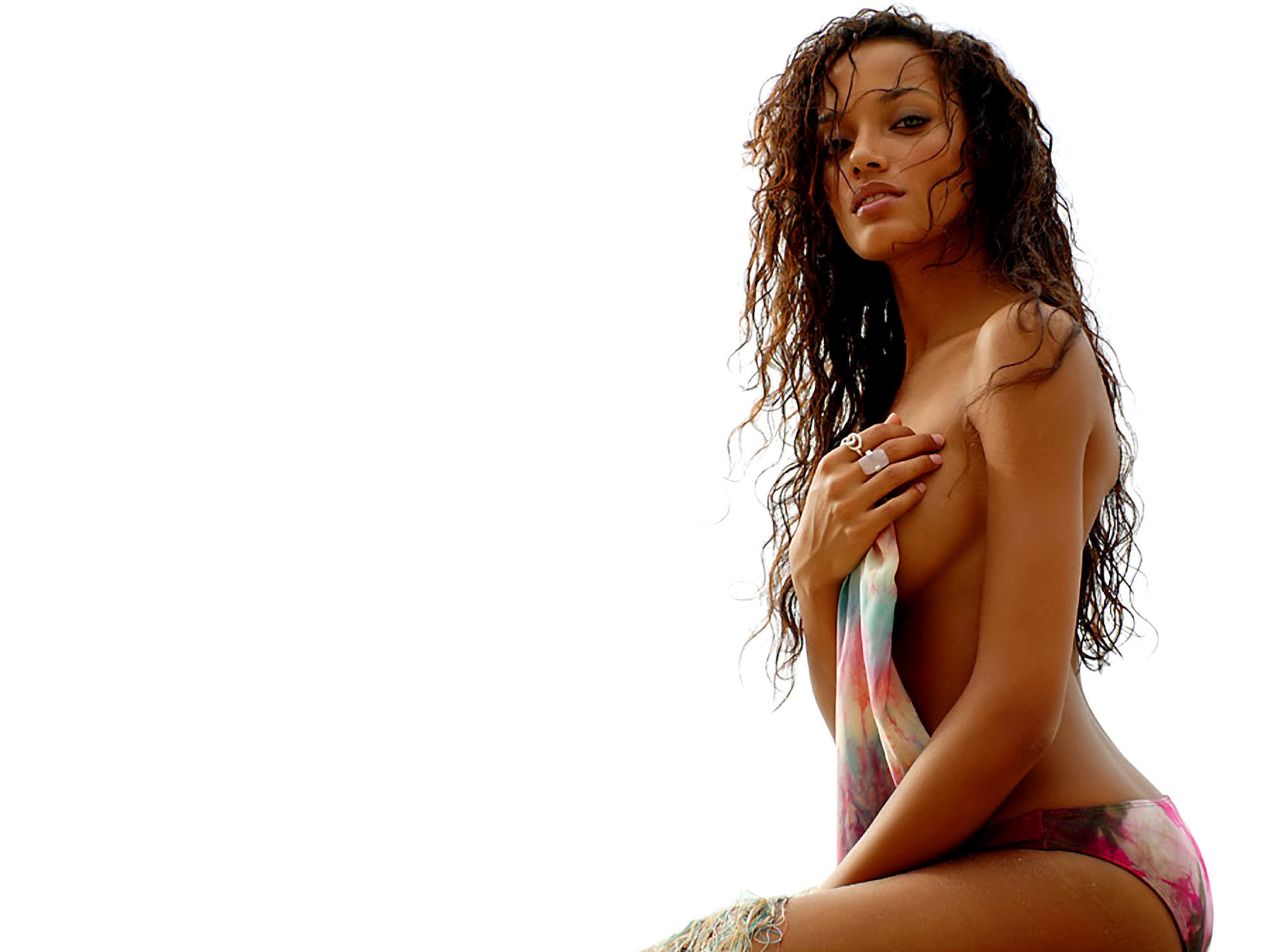 brunettes woman Selita Ebanks HD Wallpaper