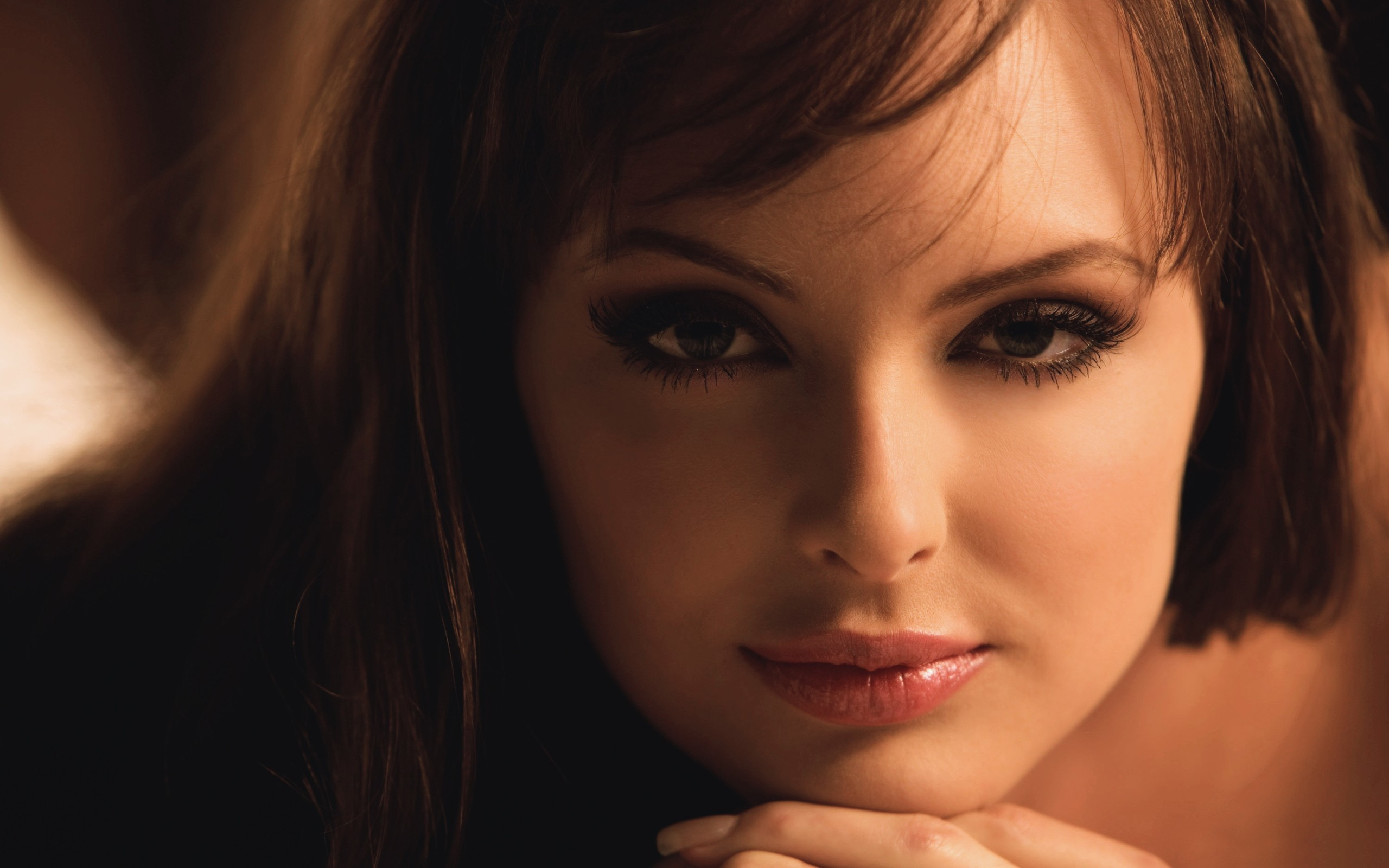 brunettes woman Shera Bechard HD Wallpaper