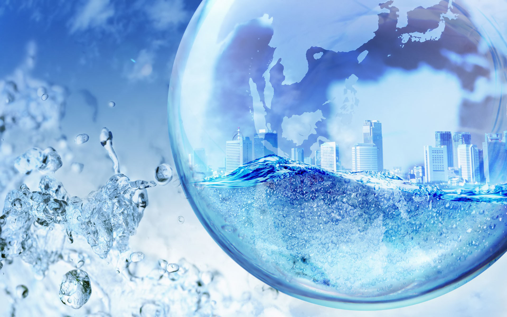 bubble City HD Wallpaper