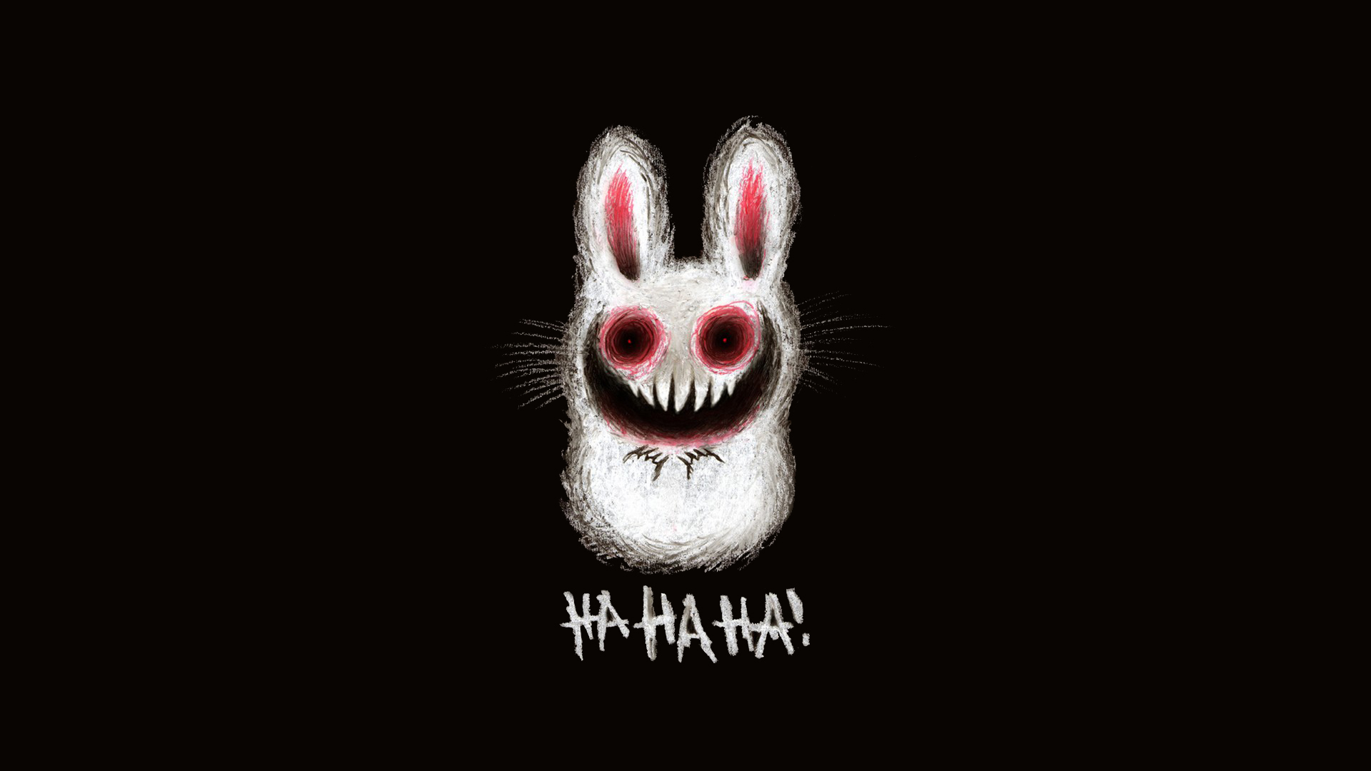 Bunnies horror creepy minimalistic HD Wallpaper
