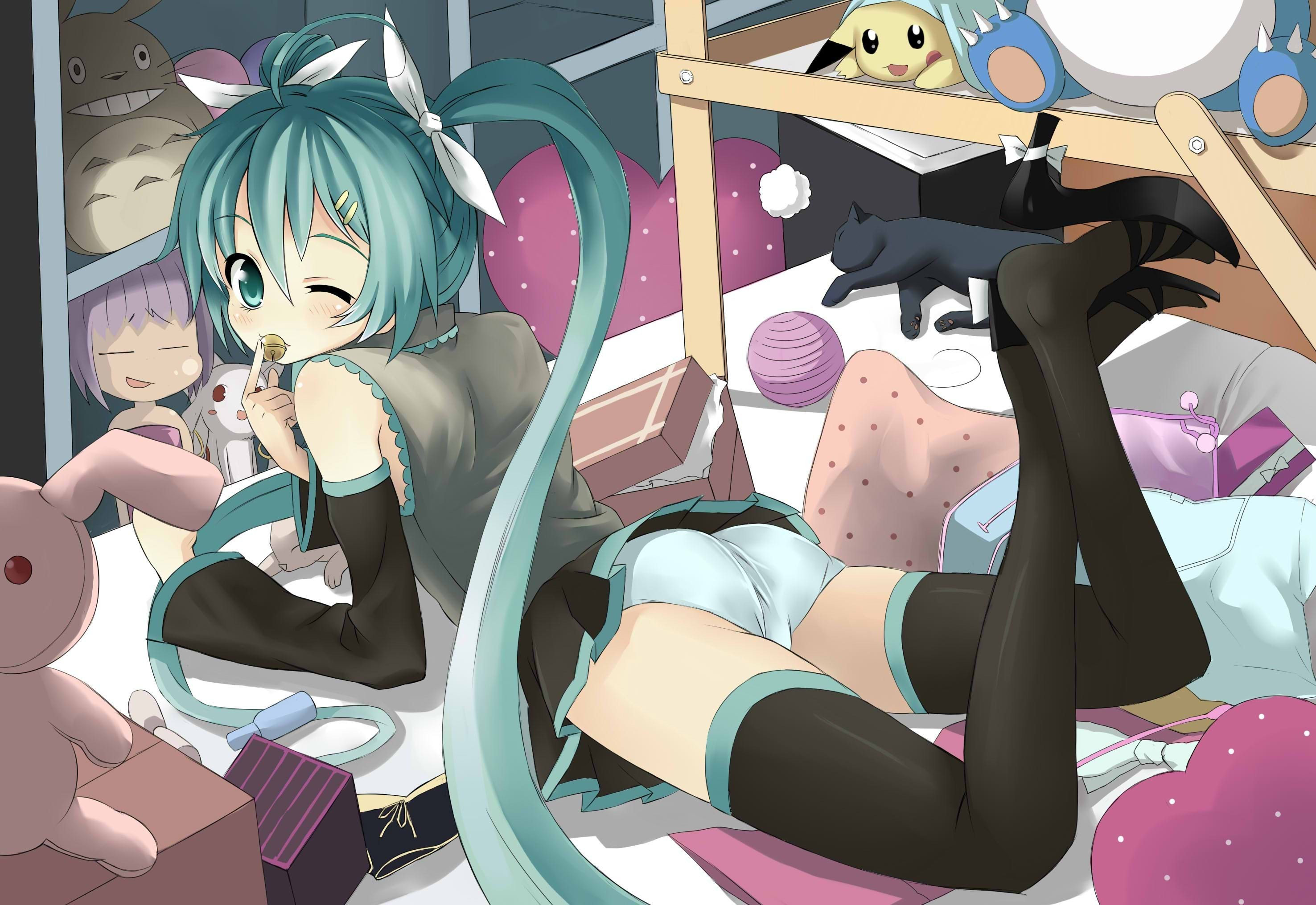 Bunnies panties vocaloid hatsune HD Wallpaper