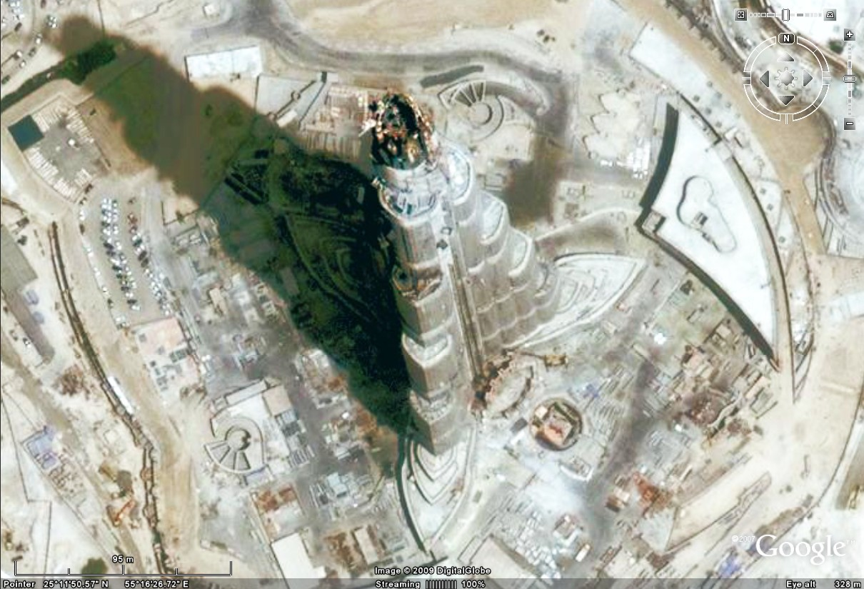 burj dubai google Earth