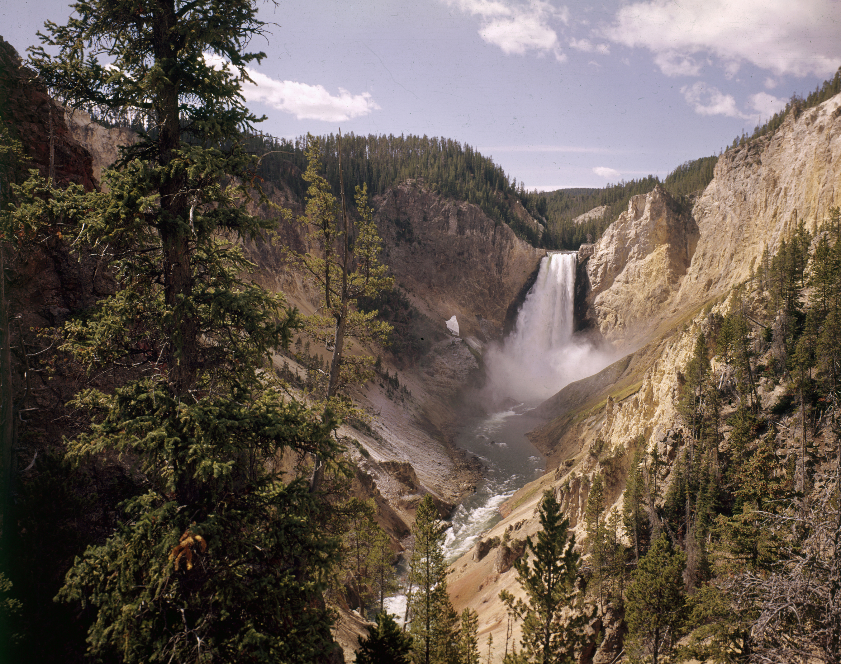 California yellowstone waterfalls national HD Wallpaper