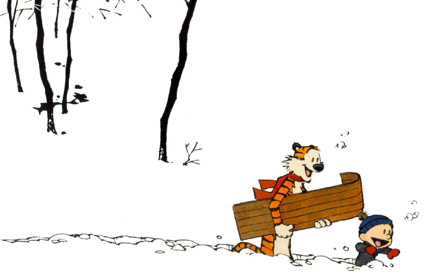 Calvin and Hobbes best HD Wallpaper