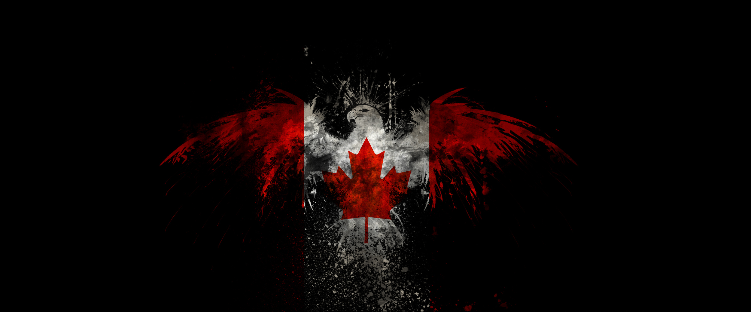 Canadian flag HD Wallpaper