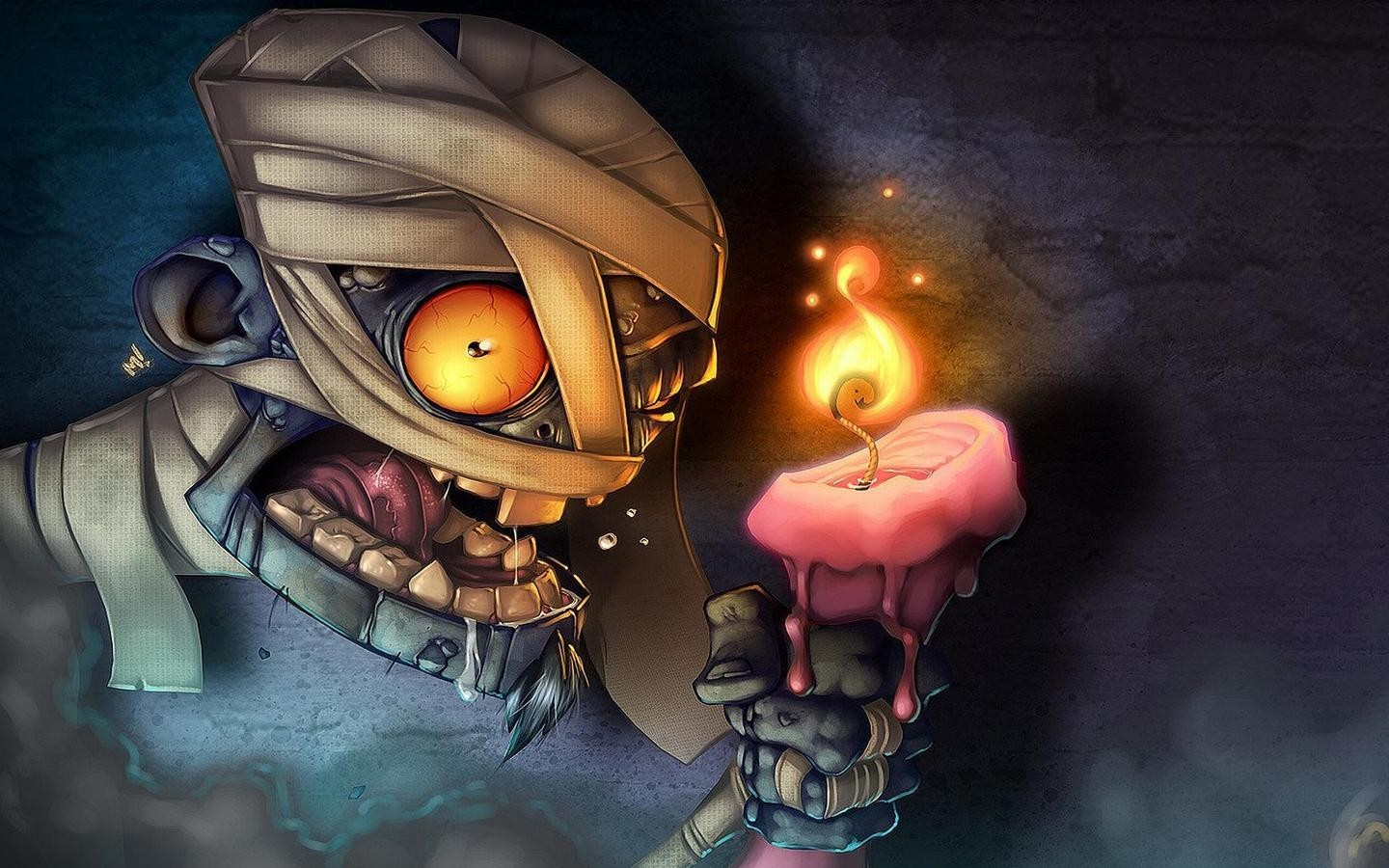Candles Mummy HD Wallpaper