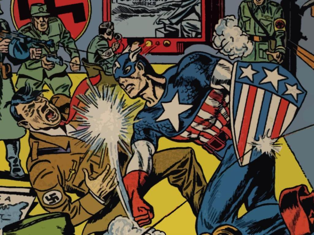 captain America Adolf hitler