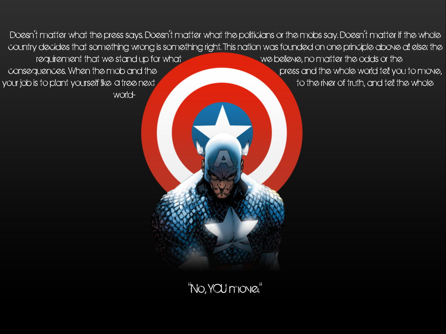 captain America Quotes marvel HD Wallpaper