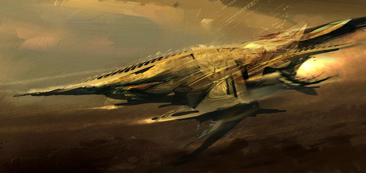 Car brown spaceships Concept HD Wallpaper