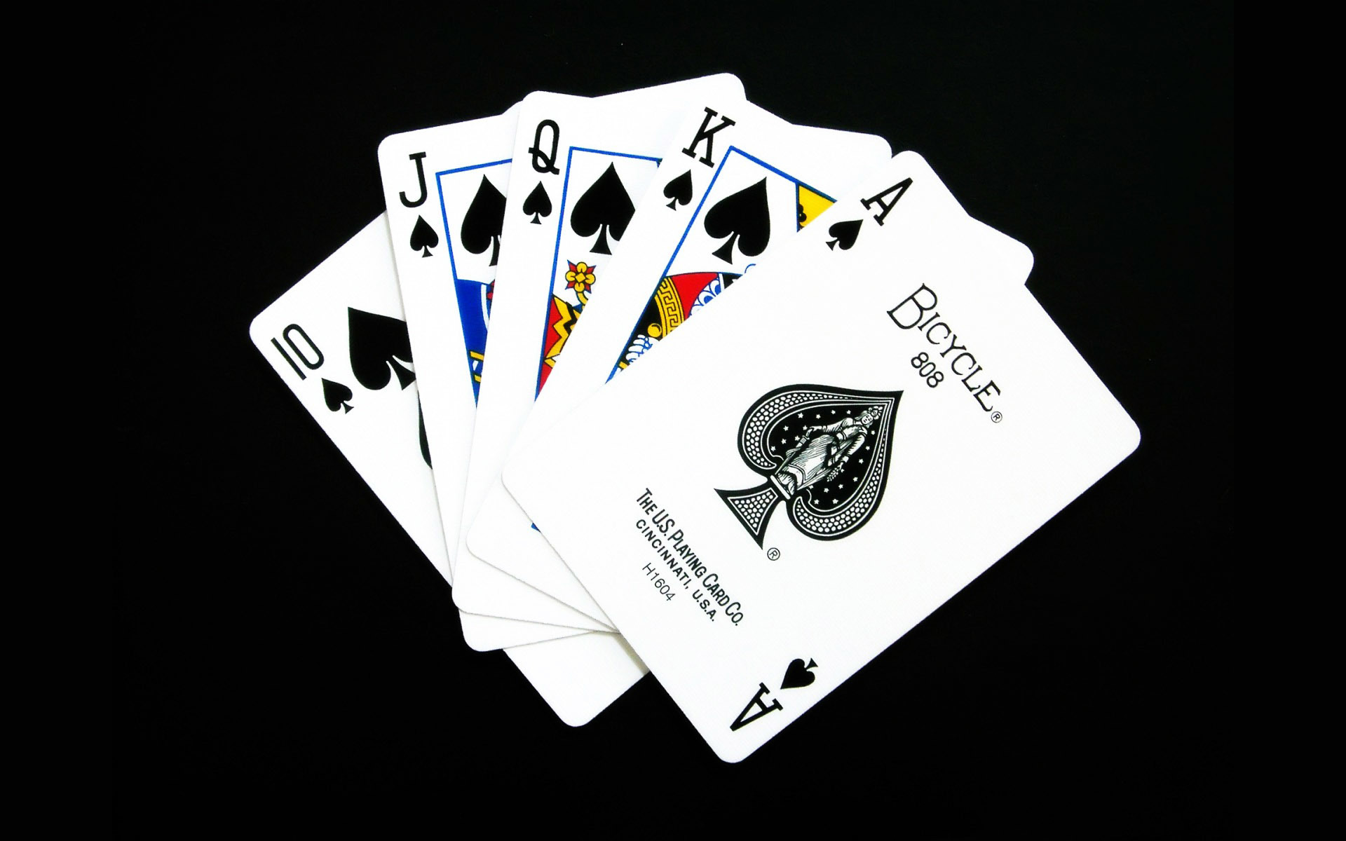 Cards spade black background HD Wallpaper