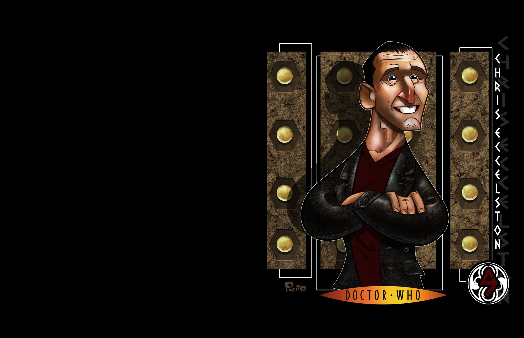 caricature doctor Who? christopher HD Wallpaper