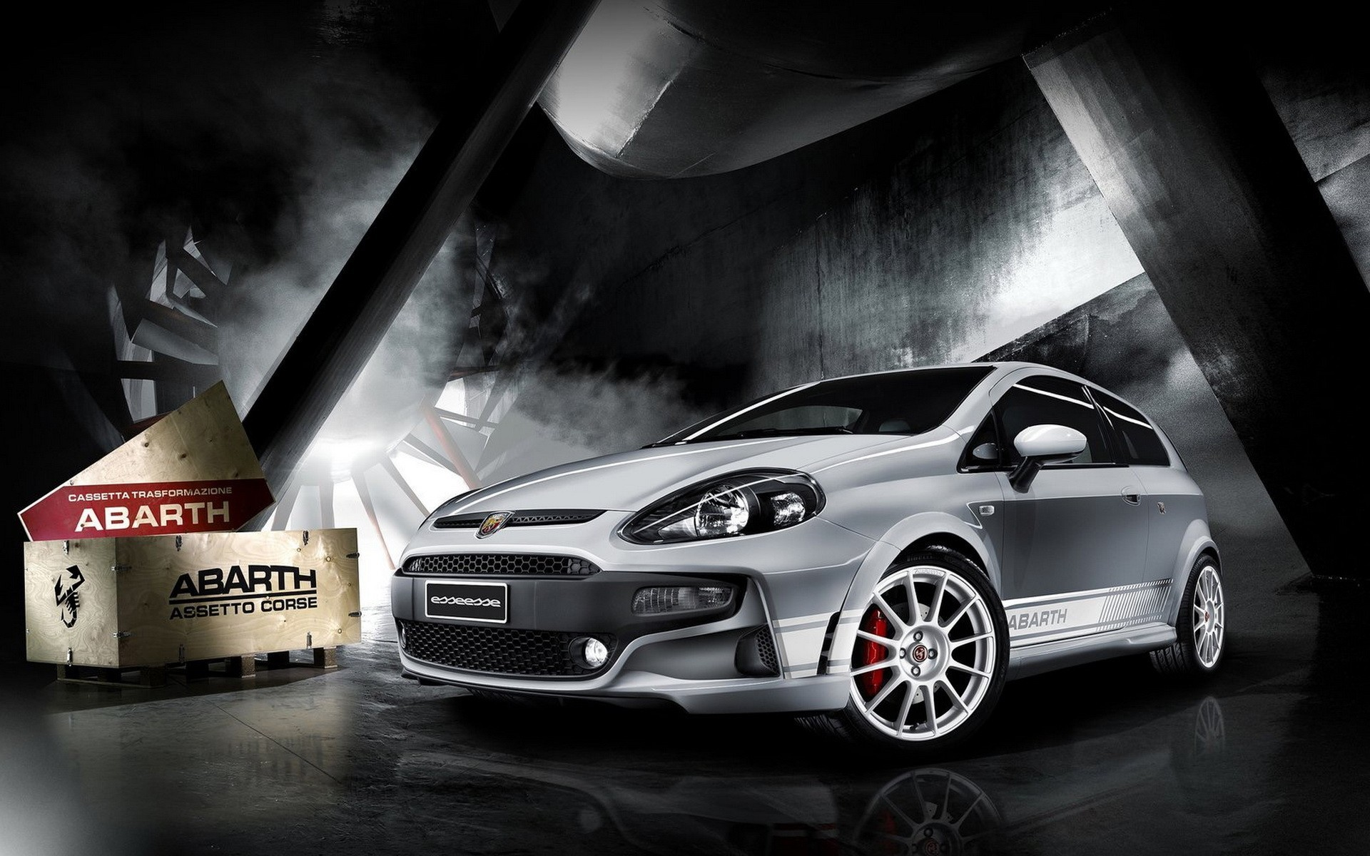 cars abarth Fiat Punto HD Wallpaper