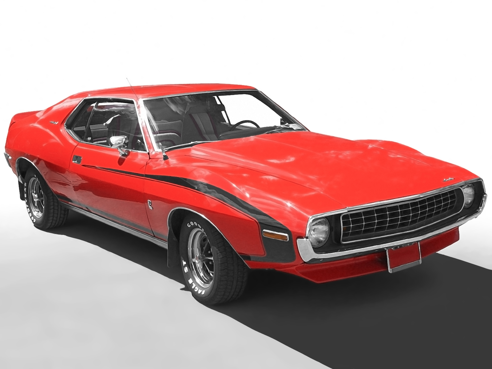 cars amx javelin red HD Wallpaper