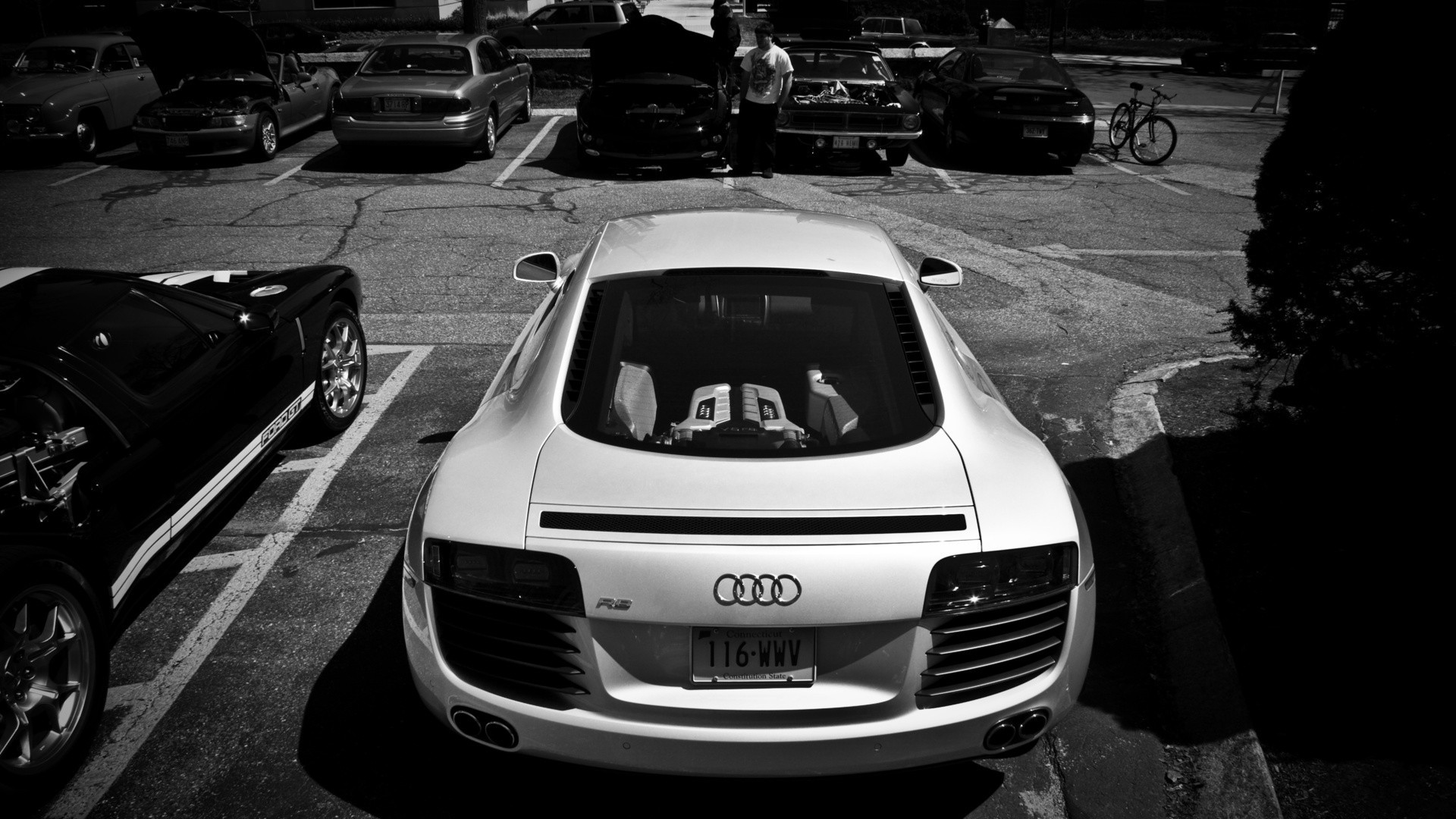 cars Audi monochrome HD Wallpaper