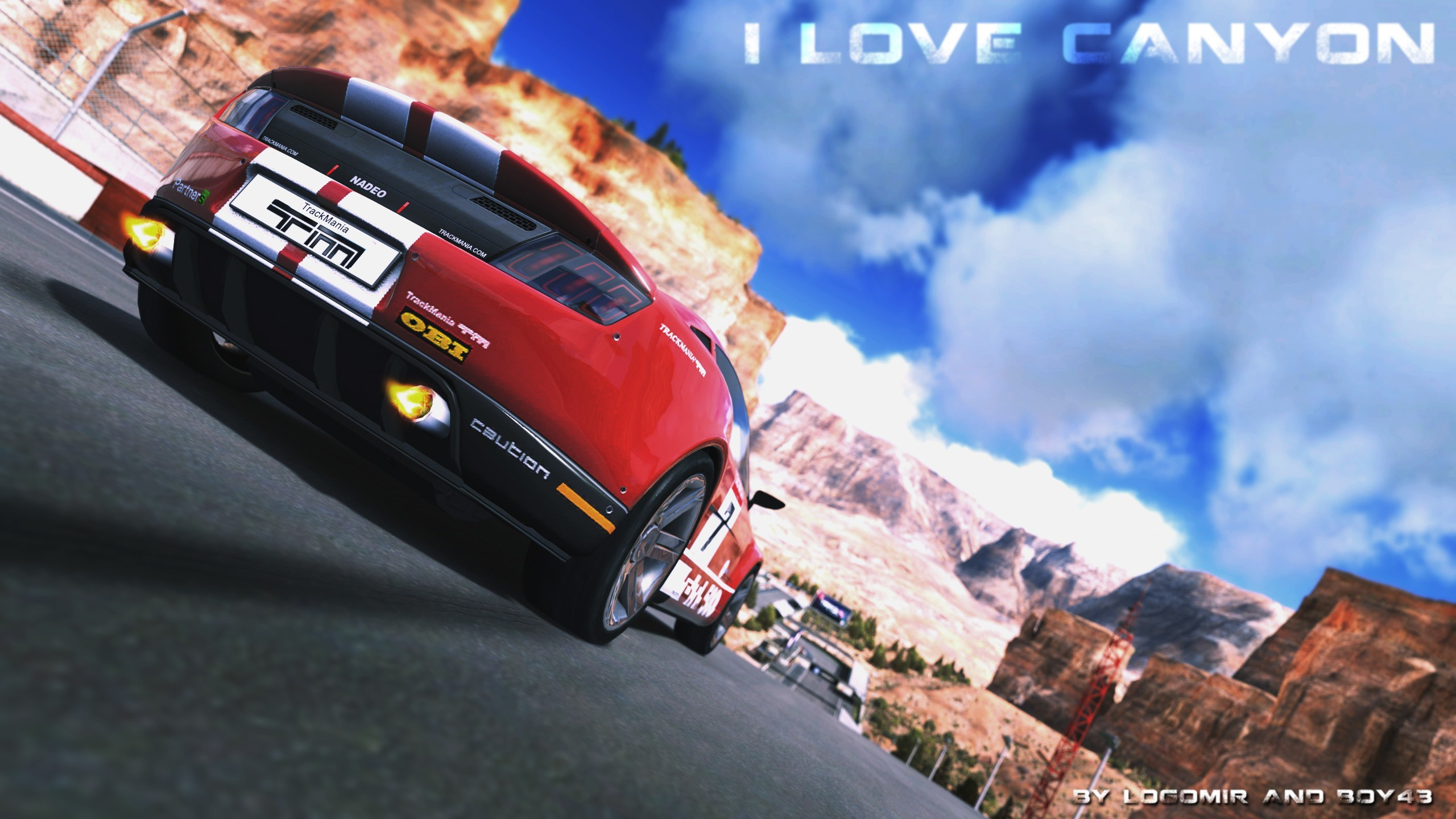 cars canyon Trackmania 2 HD Wallpaper