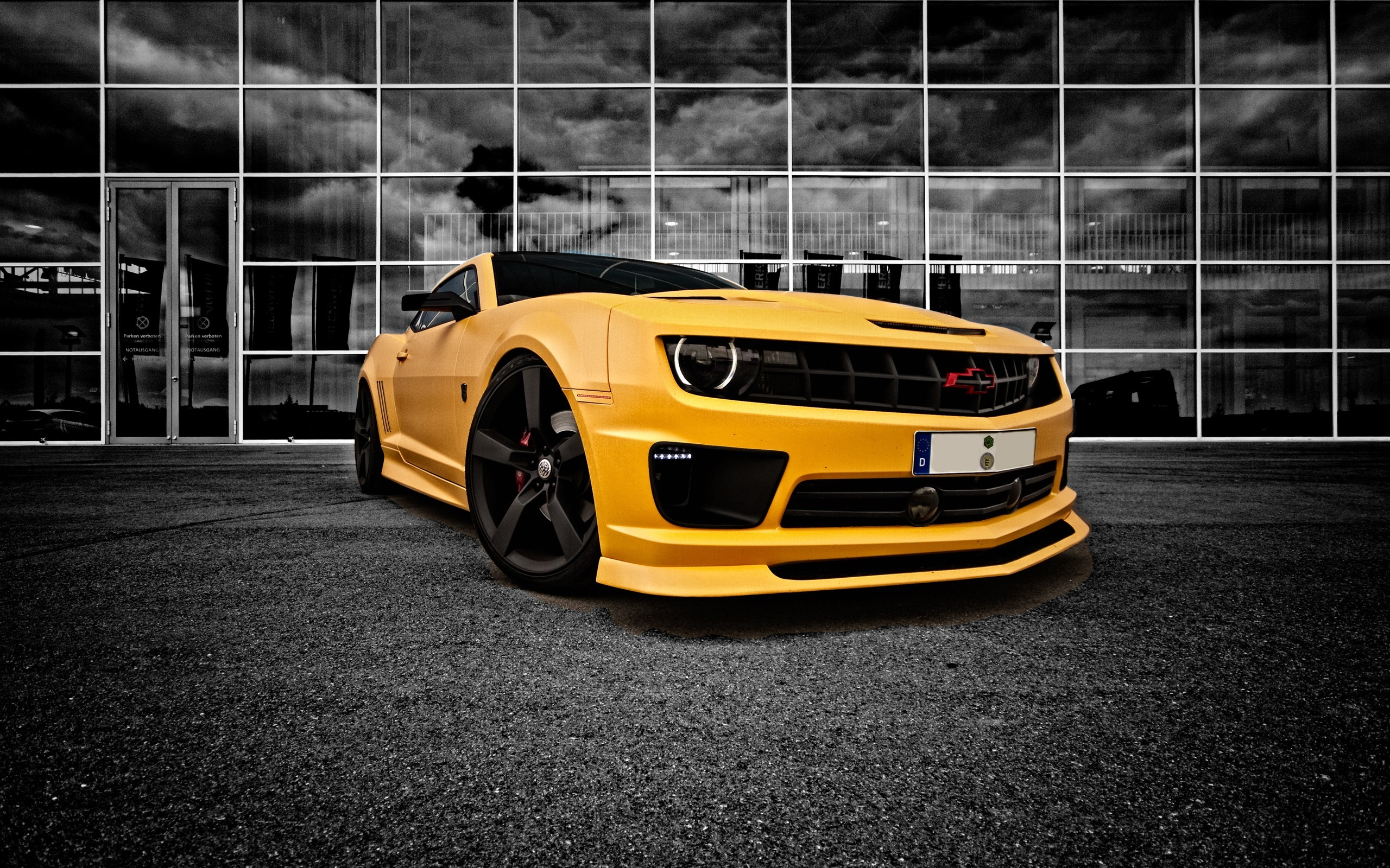 cars Chevrolet vehicles selective coloring HD Wallpaper