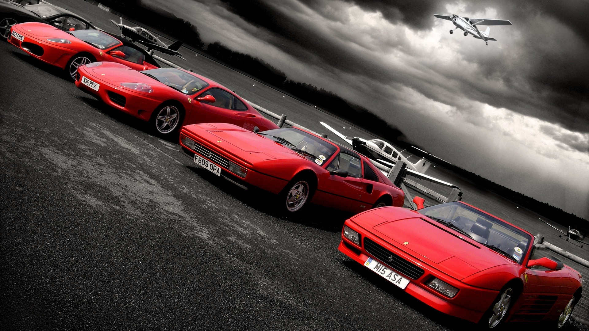 cars Ferrari selective coloring HD Wallpaper