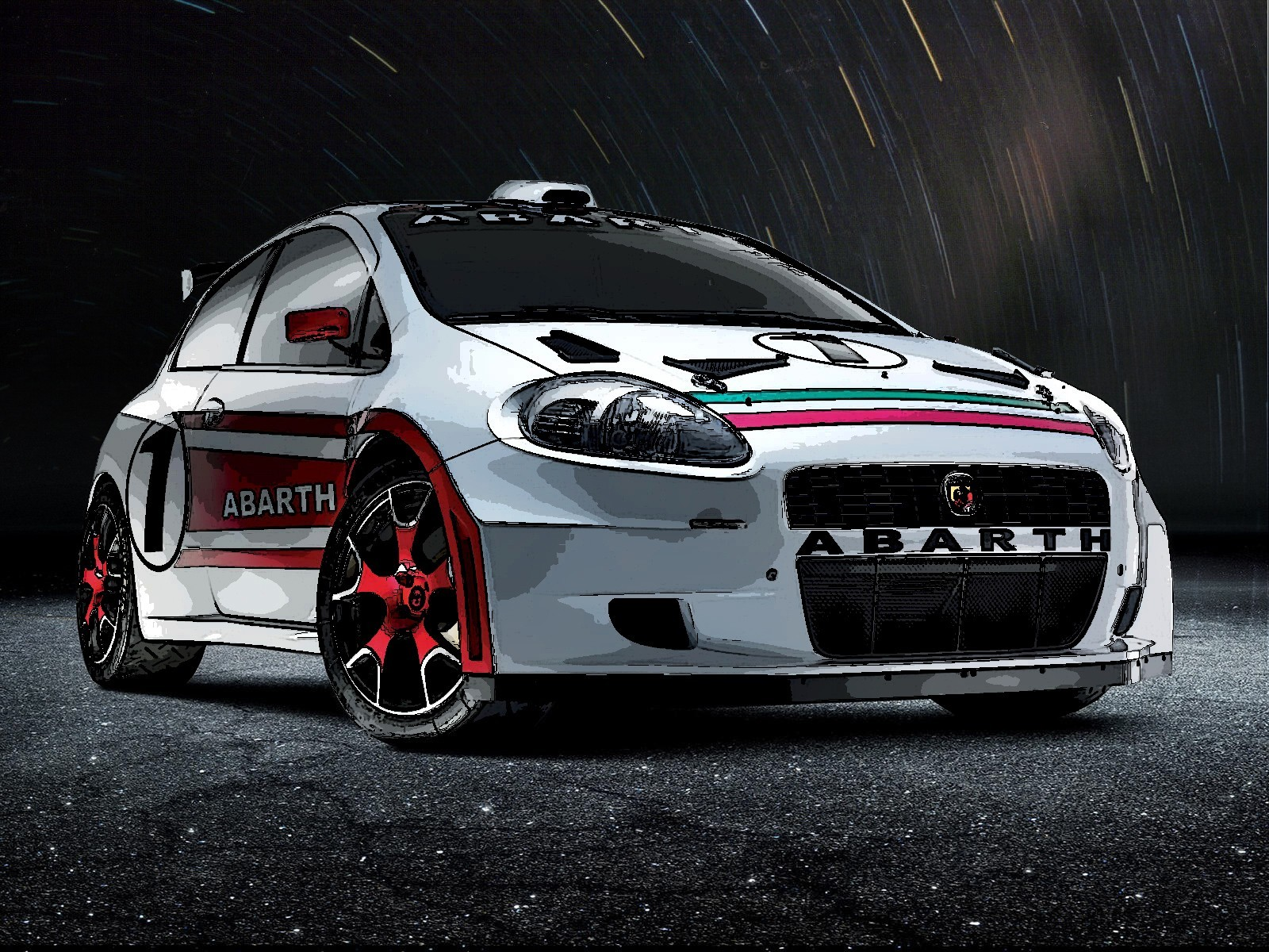 cars Fiat vehicles abarth HD Wallpaper