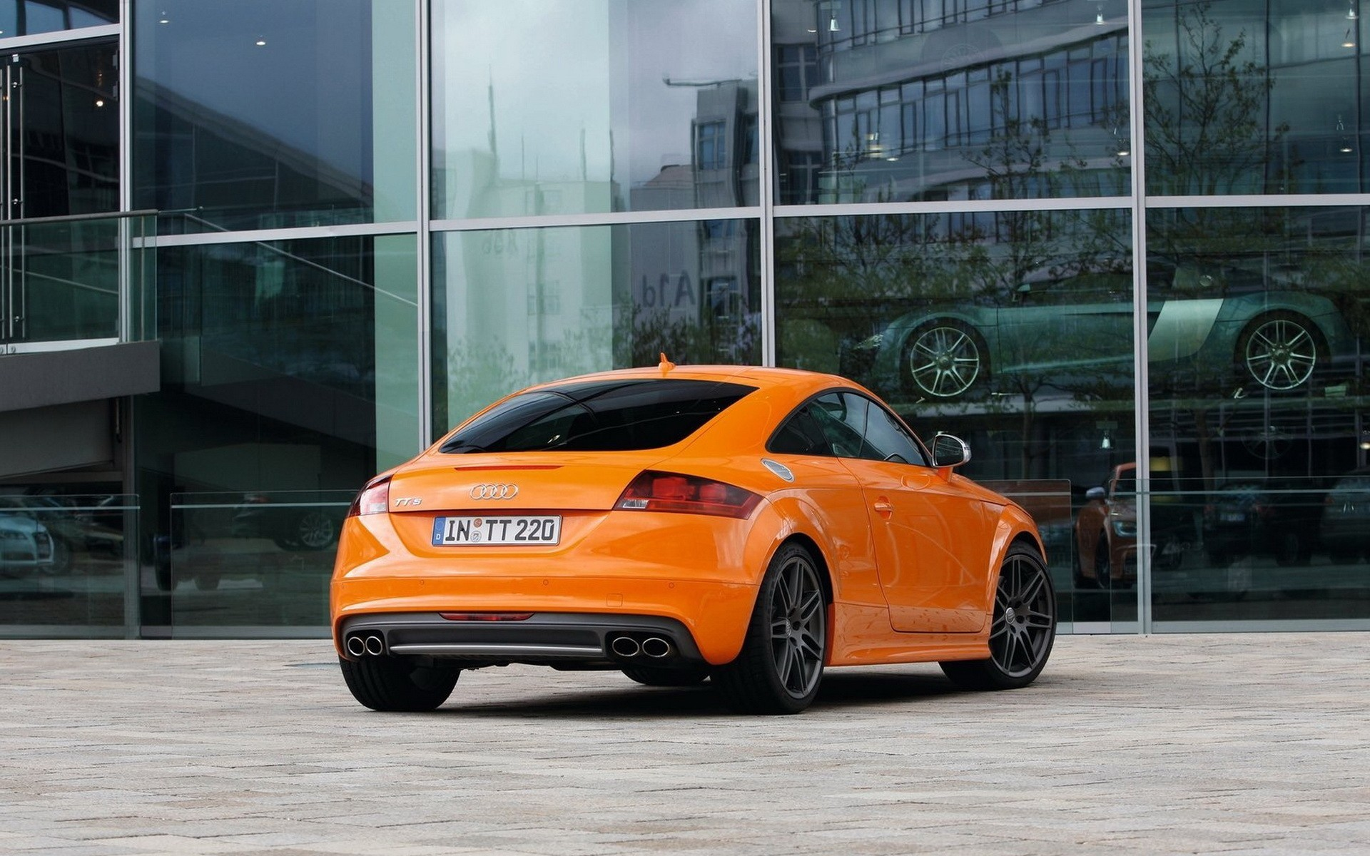 cars glass orange Audi HD Wallpaper